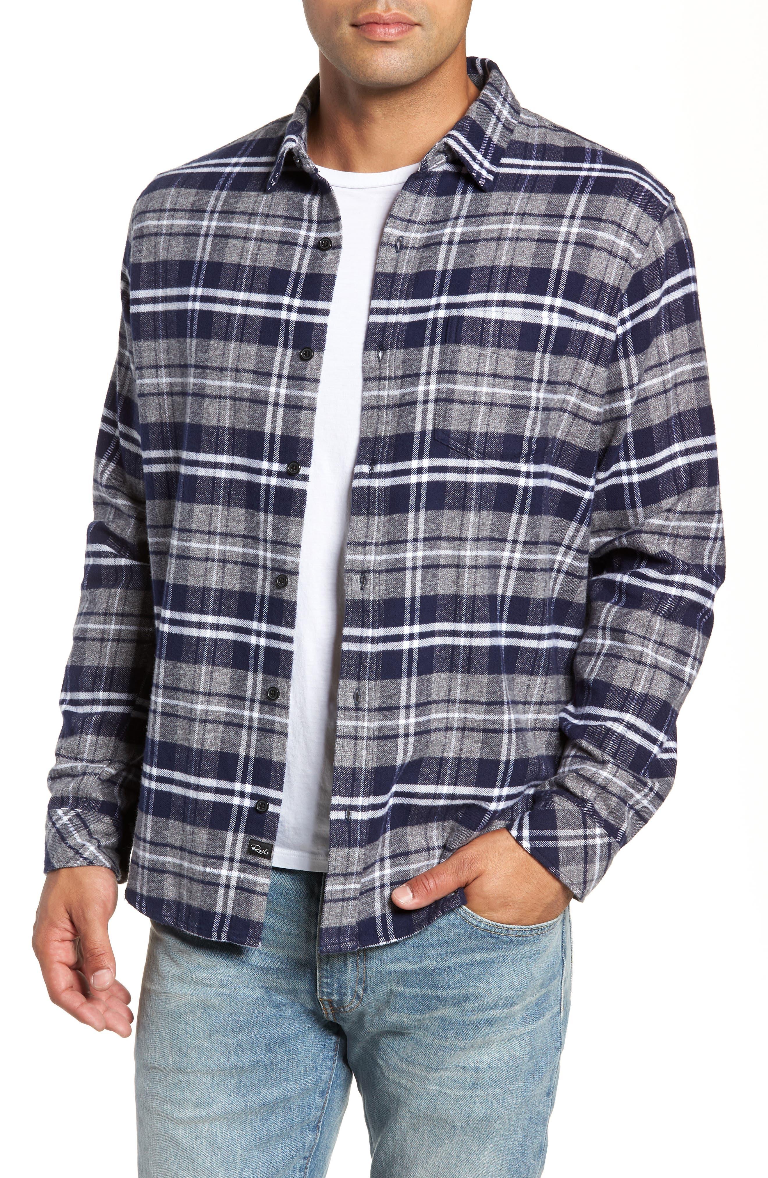 Rails Forrest Regular Fit Plaid Flannel Sport Shirt