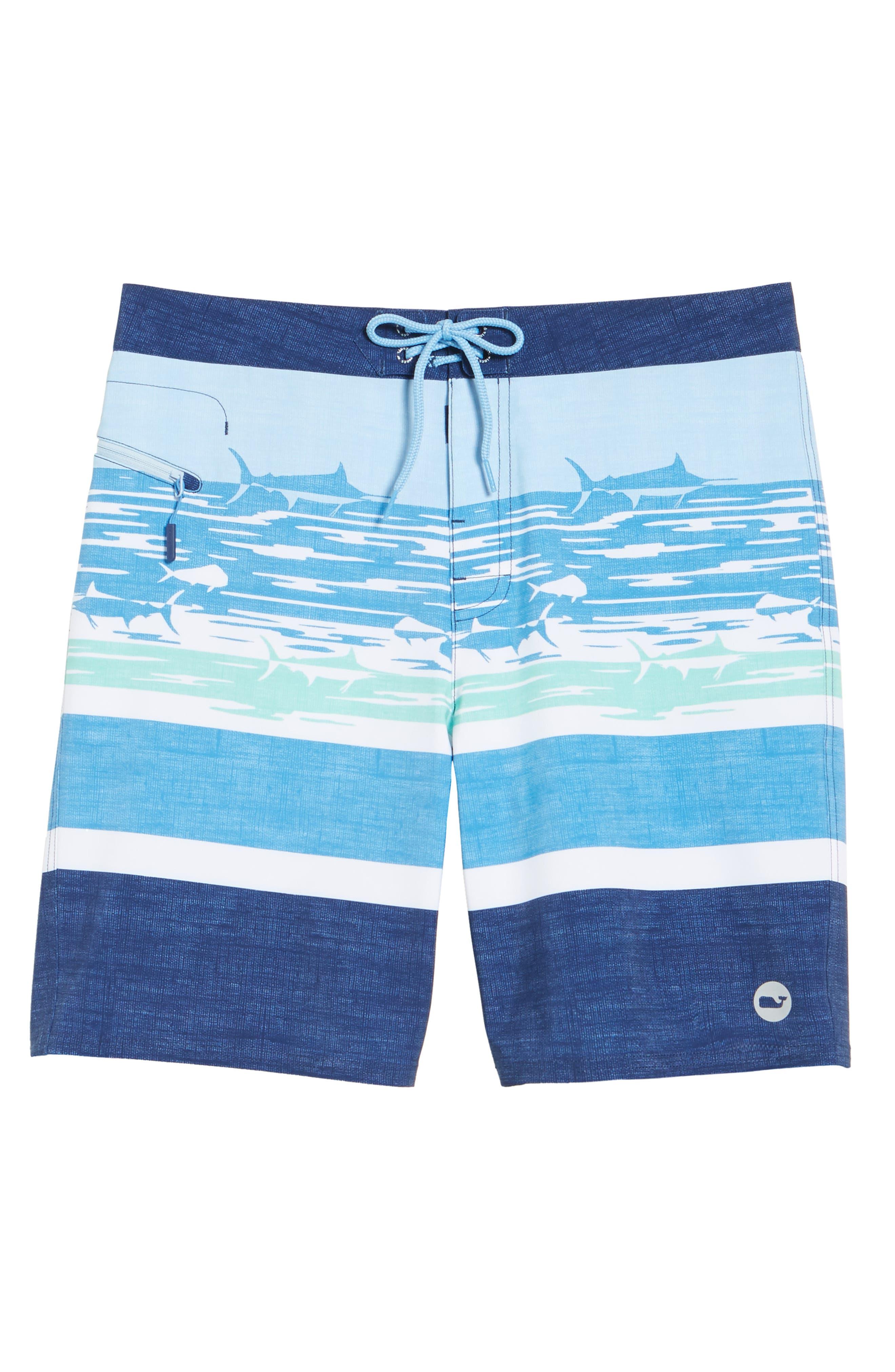 At Sea Scenic Board Shorts,                             Alternate thumbnail 6, color,