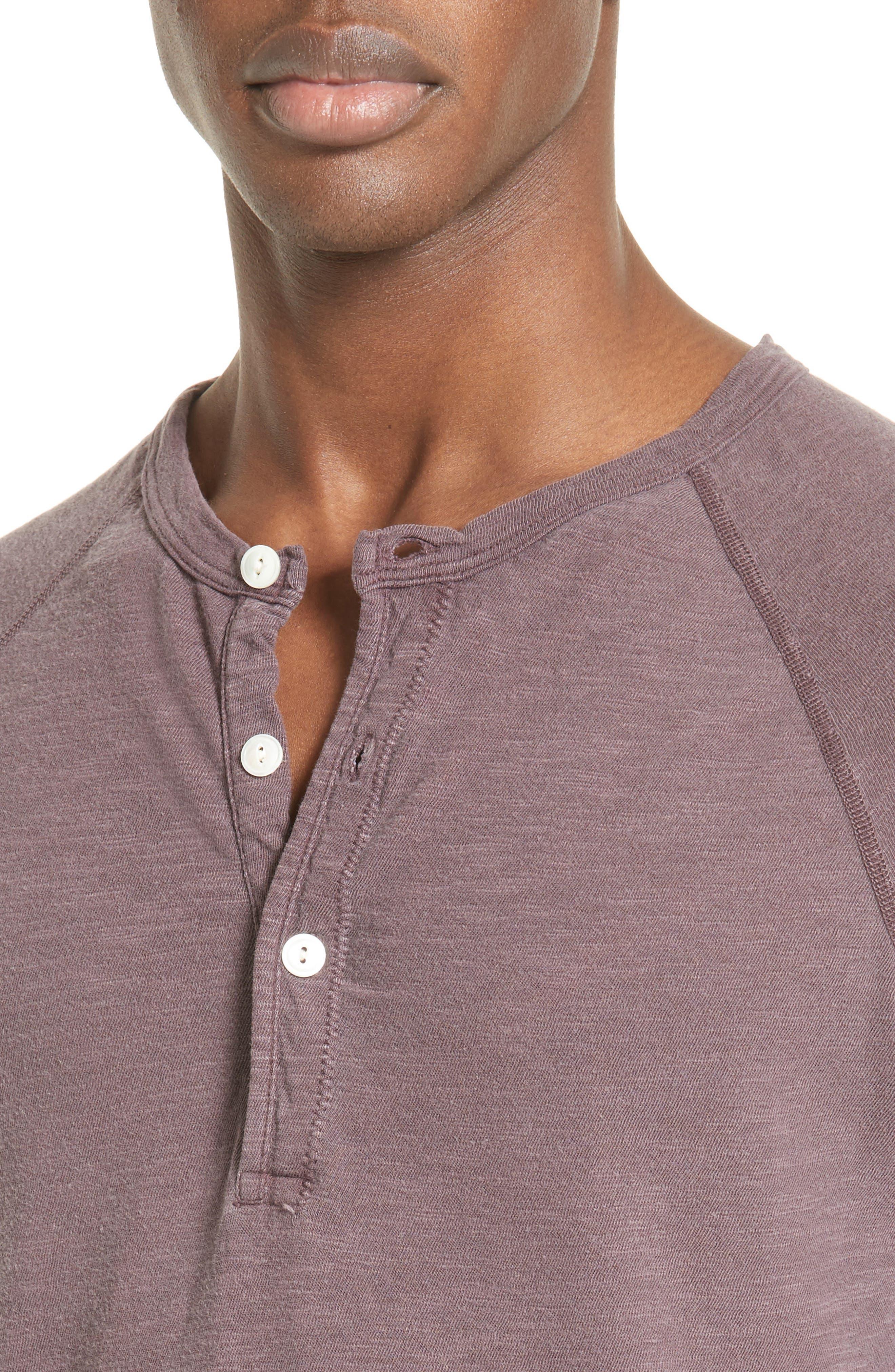 Long Sleeve Cotton Jersey Henley,                             Alternate thumbnail 12, color,