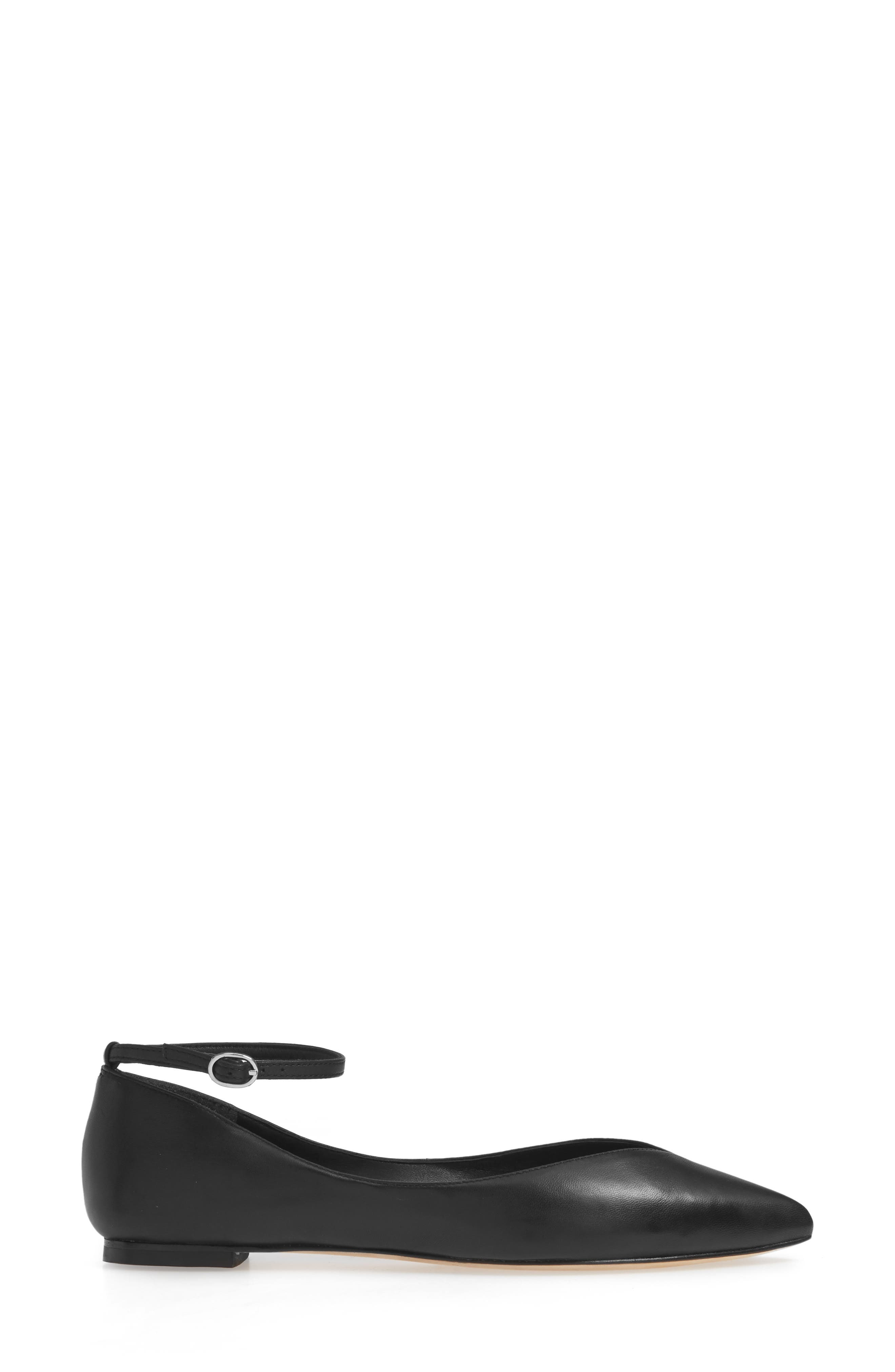 Mary Jane Flat,                             Alternate thumbnail 3, color,                             BLACK