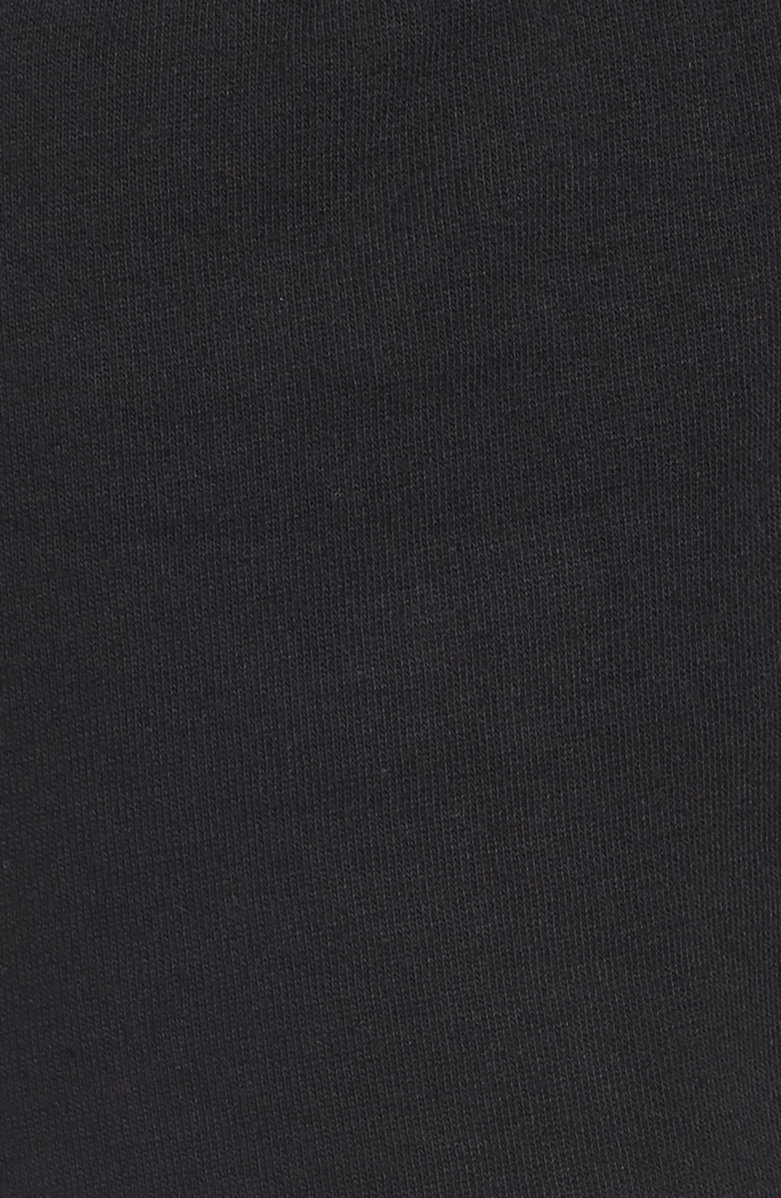 Logo Slim Fleece Pants,                             Alternate thumbnail 6, color,                             BLACK-WHITE