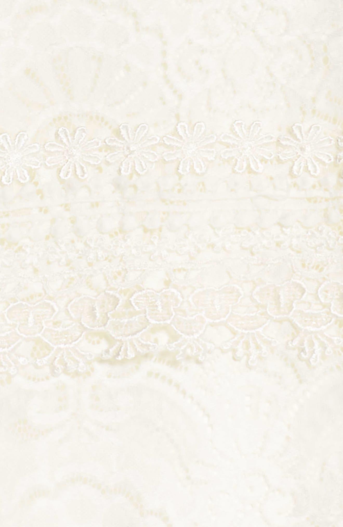 Lace Panel Shift Dress,                             Alternate thumbnail 3, color,                             100