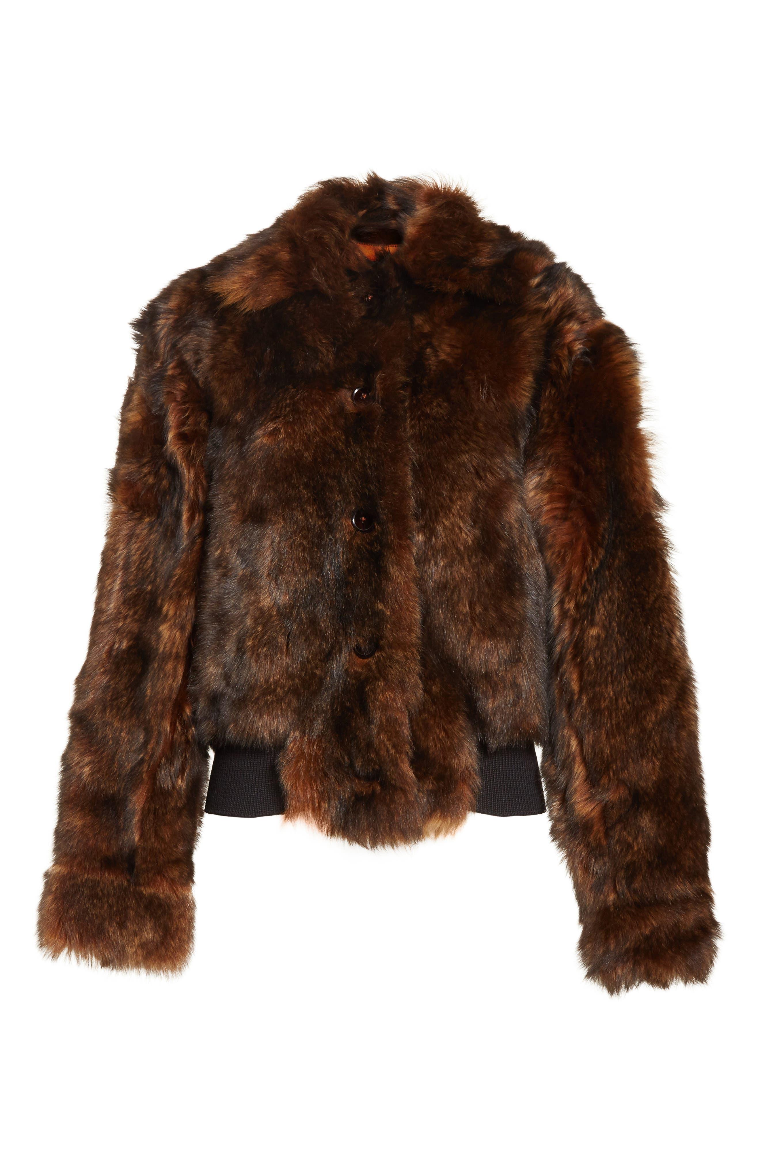 Genuine Shearling Jacket,                             Alternate thumbnail 5, color,