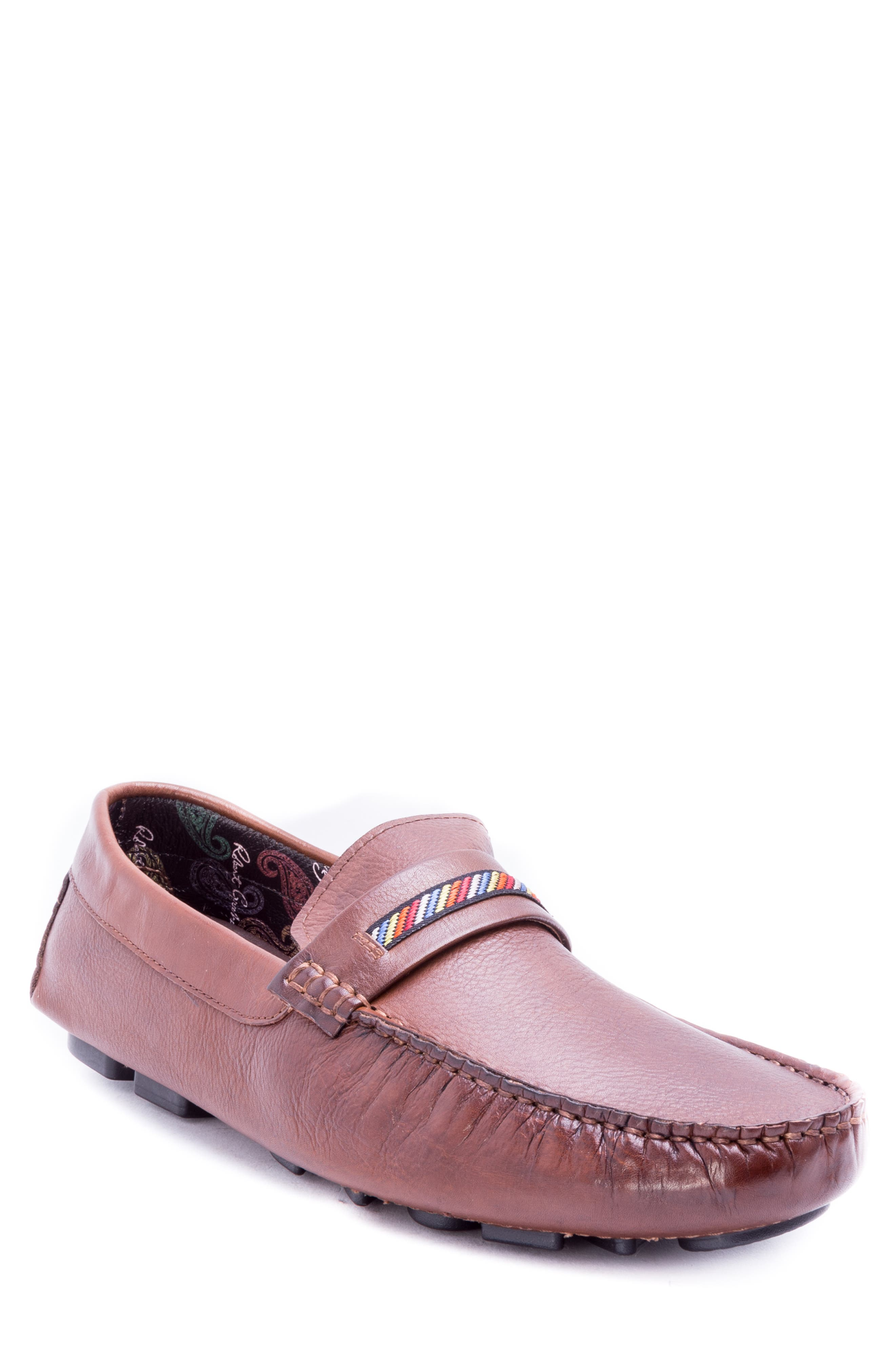 Hart Driving Moccasin,                         Main,                         color, COGNAC LEATHER