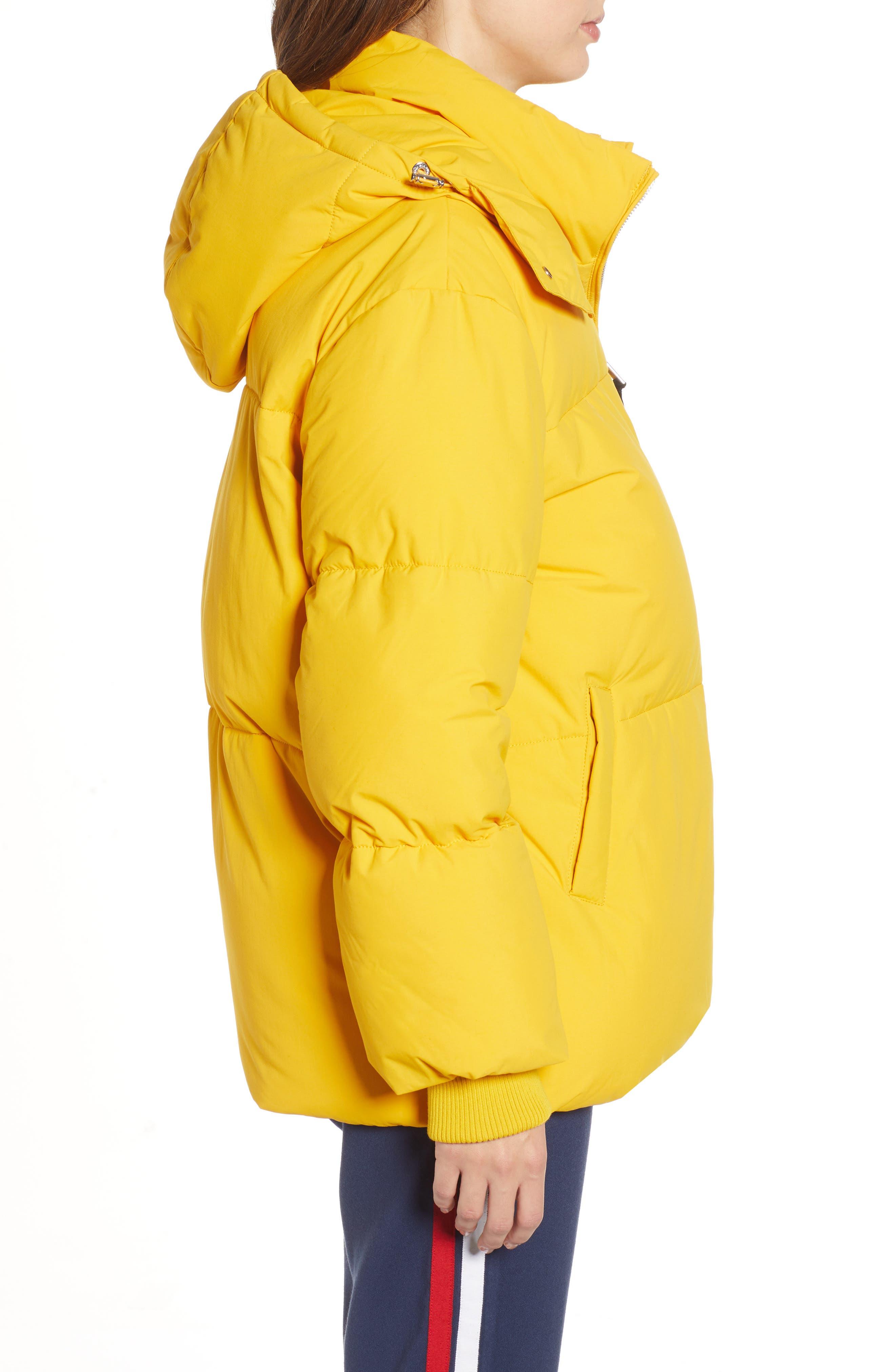 TJW Oversized Puffer Jacket,                             Alternate thumbnail 3, color,                             MANGO MOJITO