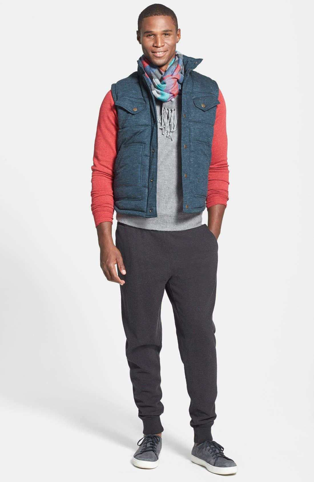 Quilted Vest,                             Alternate thumbnail 4, color,                             400
