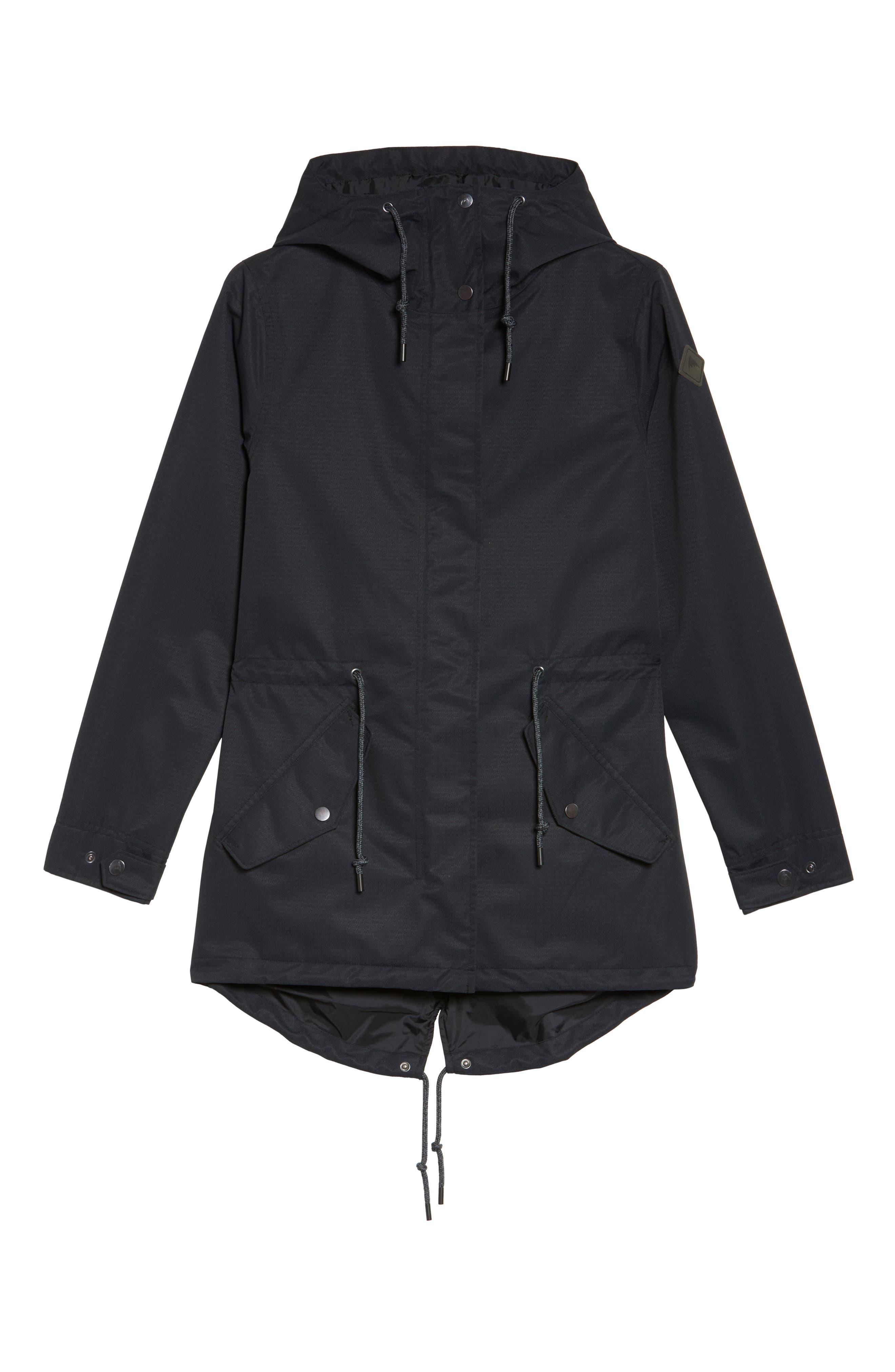 Sadie Waterproof Hooded Jacket,                             Alternate thumbnail 6, color,                             001