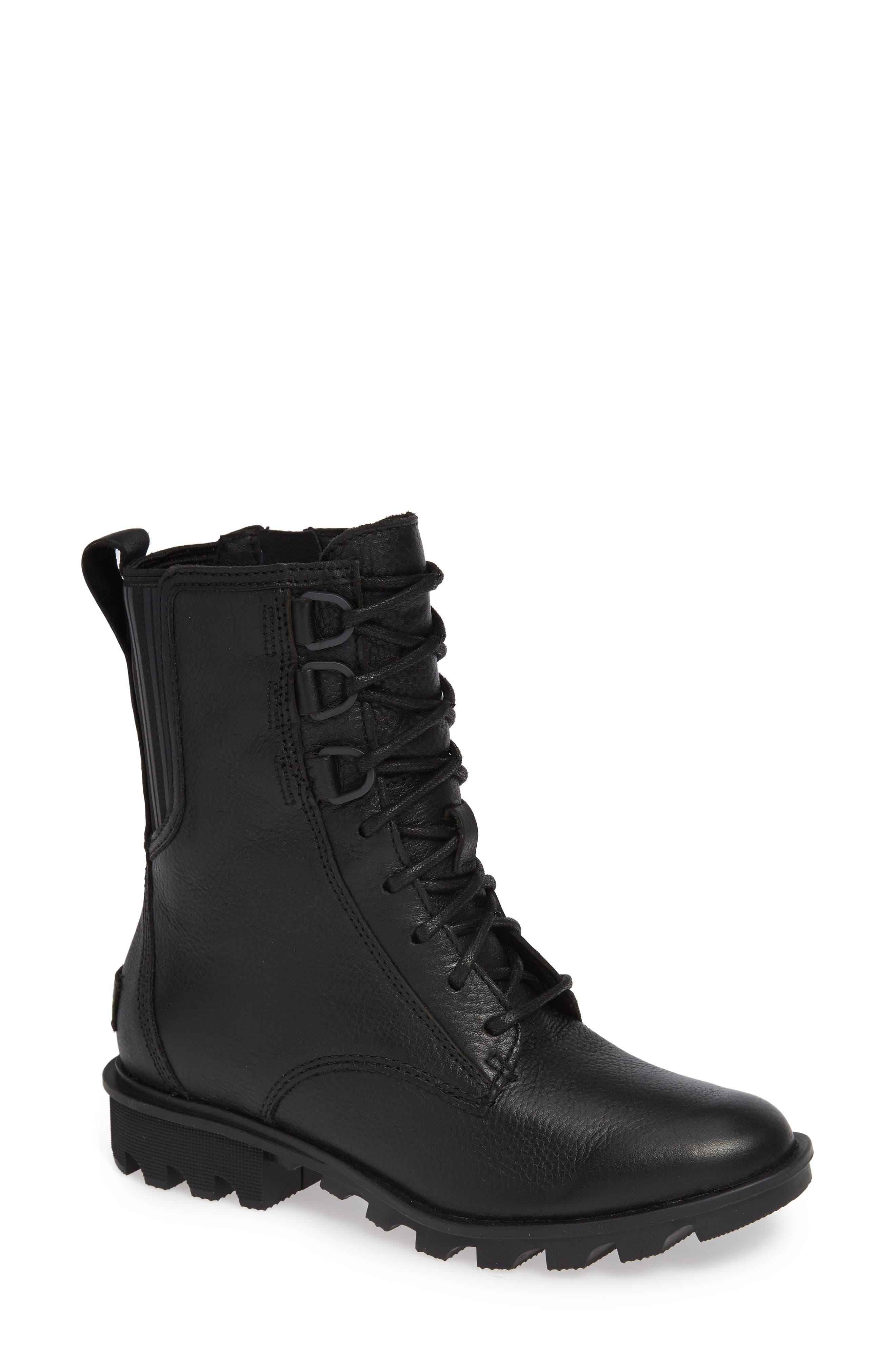Phoenix Lace-Up Boot,                             Main thumbnail 1, color,                             BLACK