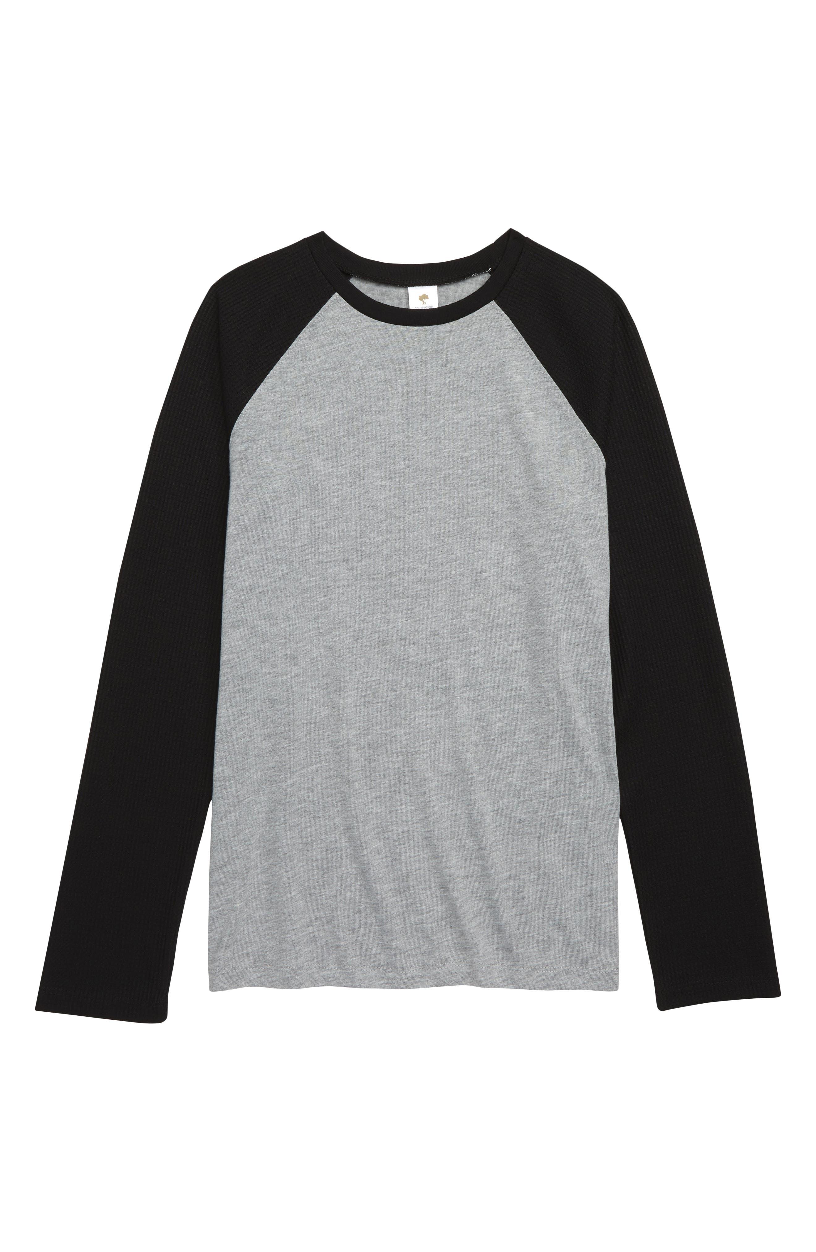 Fitted Pajama T-Shirt,                         Main,                         color, GREY MEDIUM HEATHER- BLACK