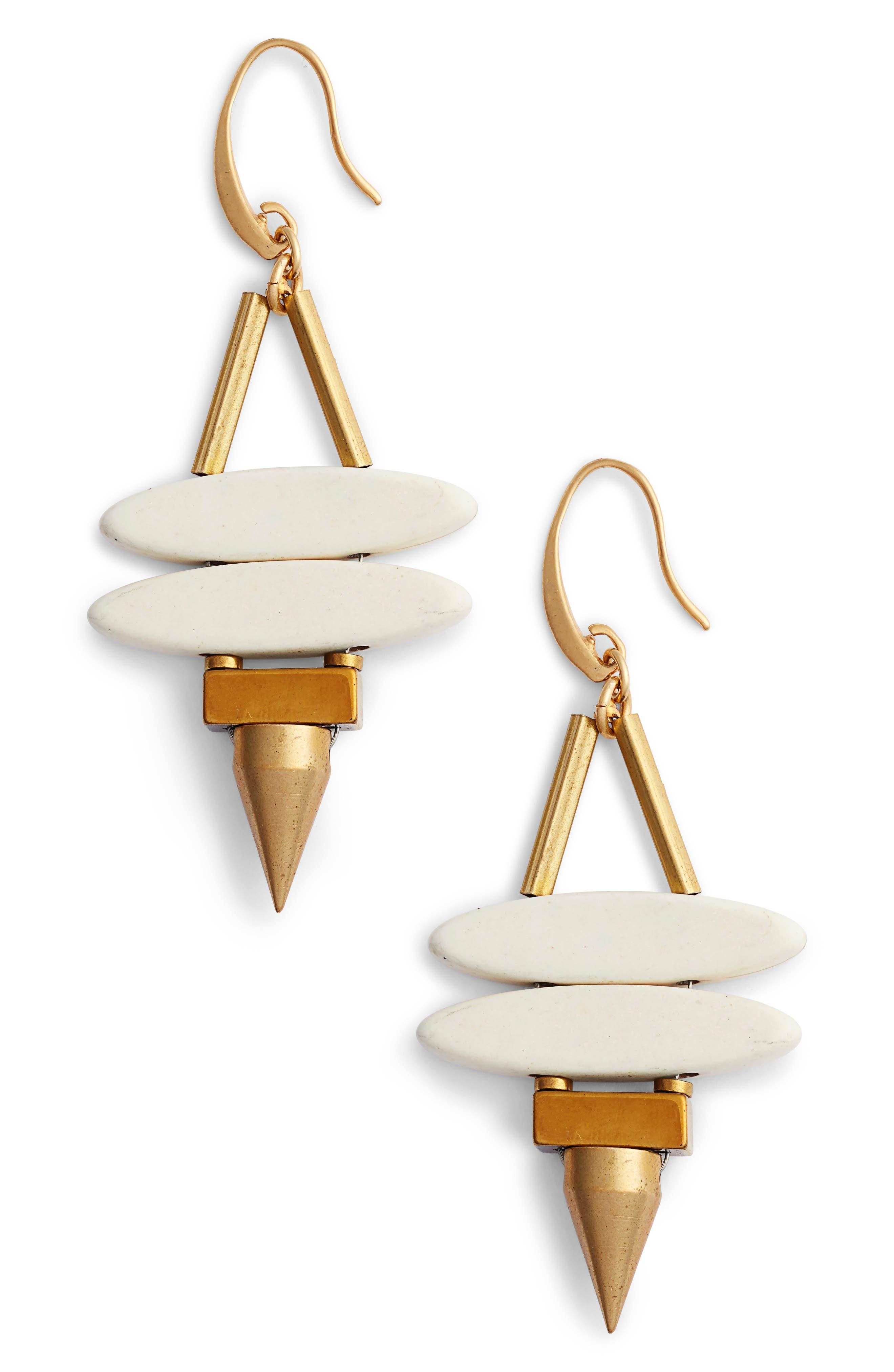 Sahara Spike Drop Earrings,                             Main thumbnail 1, color,                             100