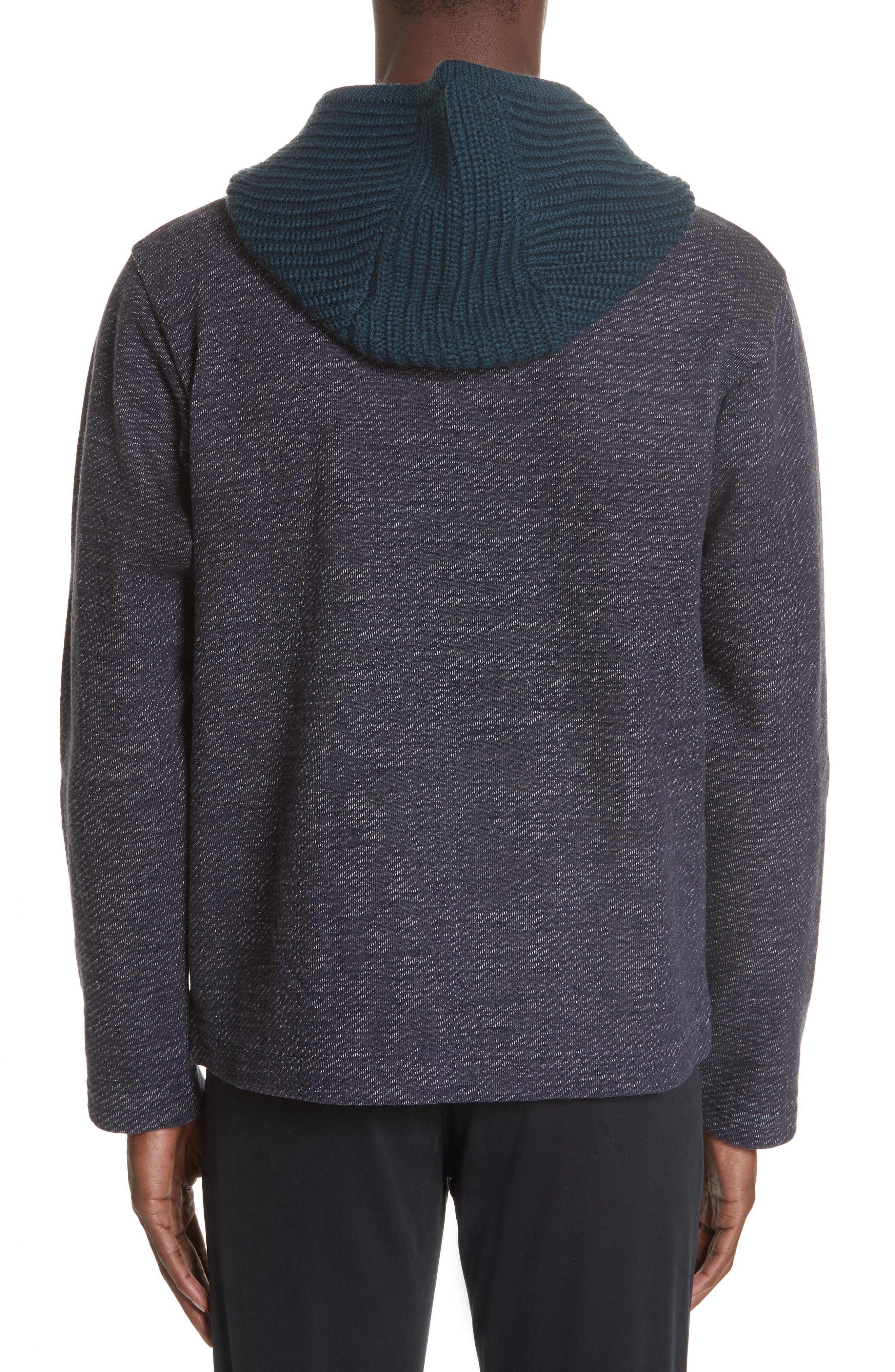 Hooded Cardigan,                             Alternate thumbnail 2, color,                             NAVY