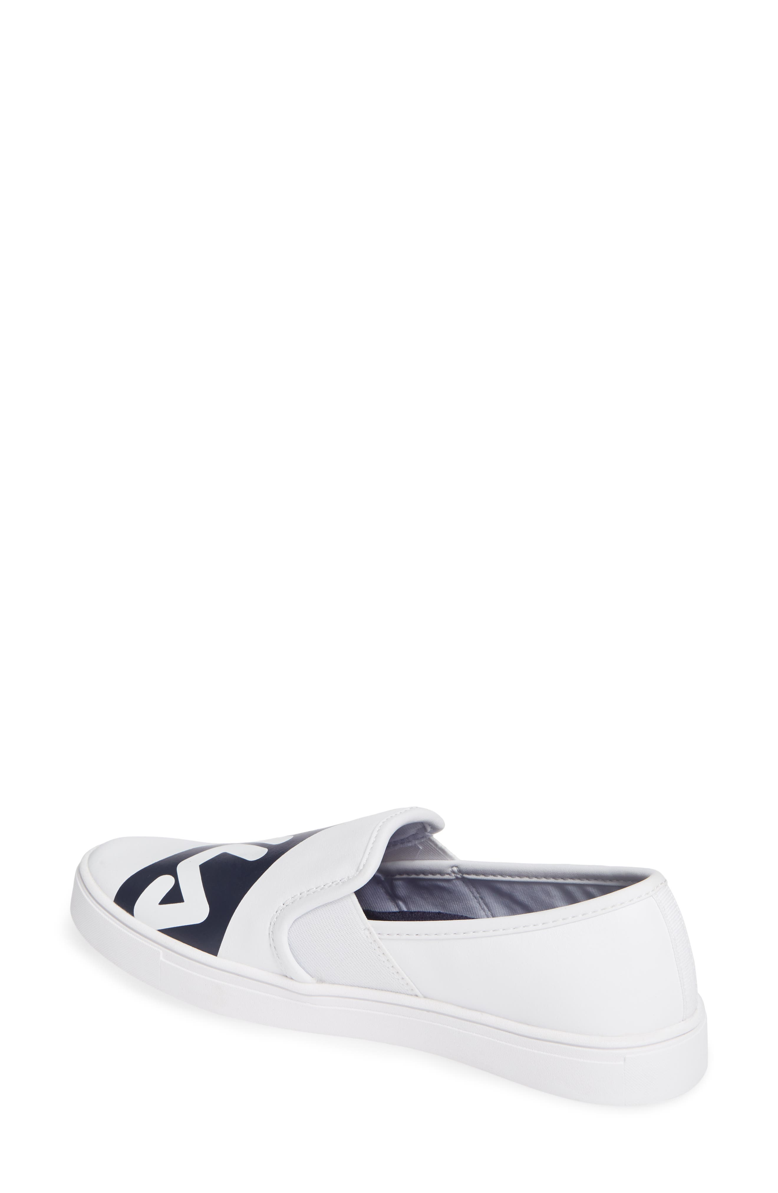 Original Slip-On Sneaker,                             Alternate thumbnail 2, color,                             WHT/ FNVY/ RED