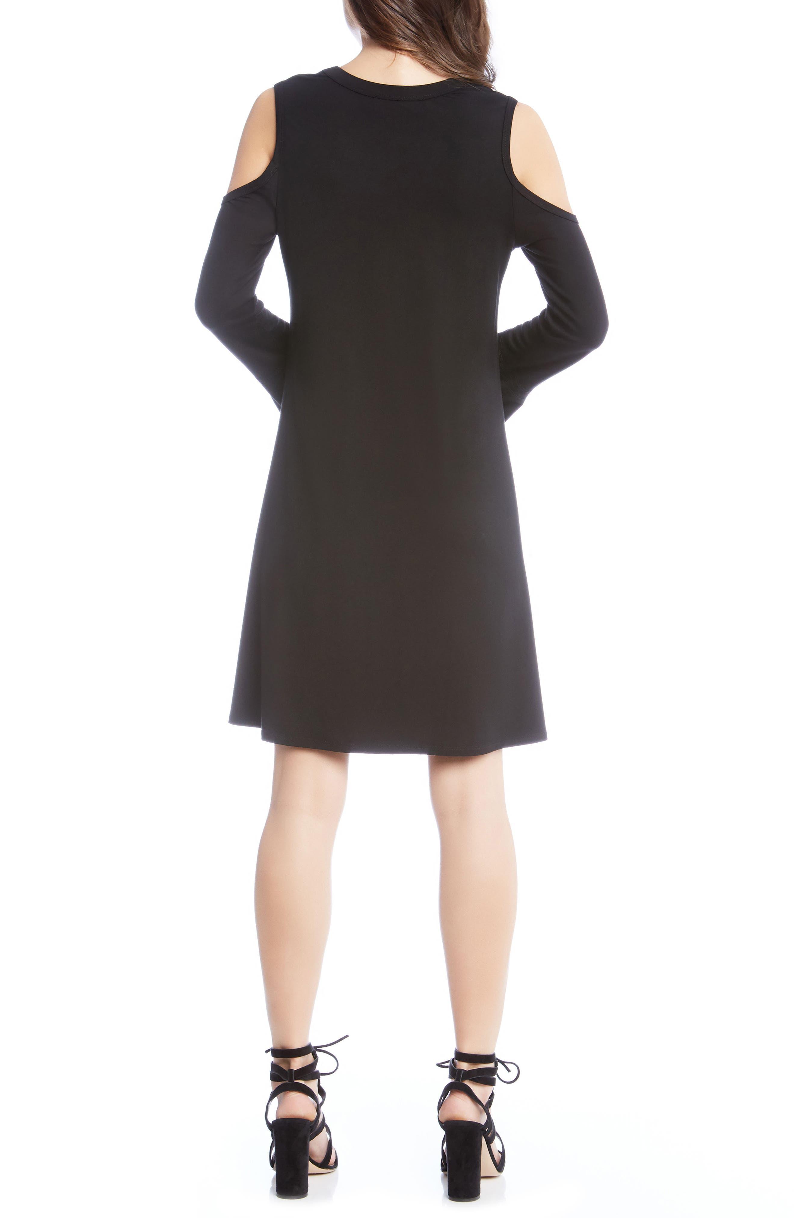KAREN KANE,                             Cold Shoulder A-Line Dress,                             Alternate thumbnail 2, color,                             001