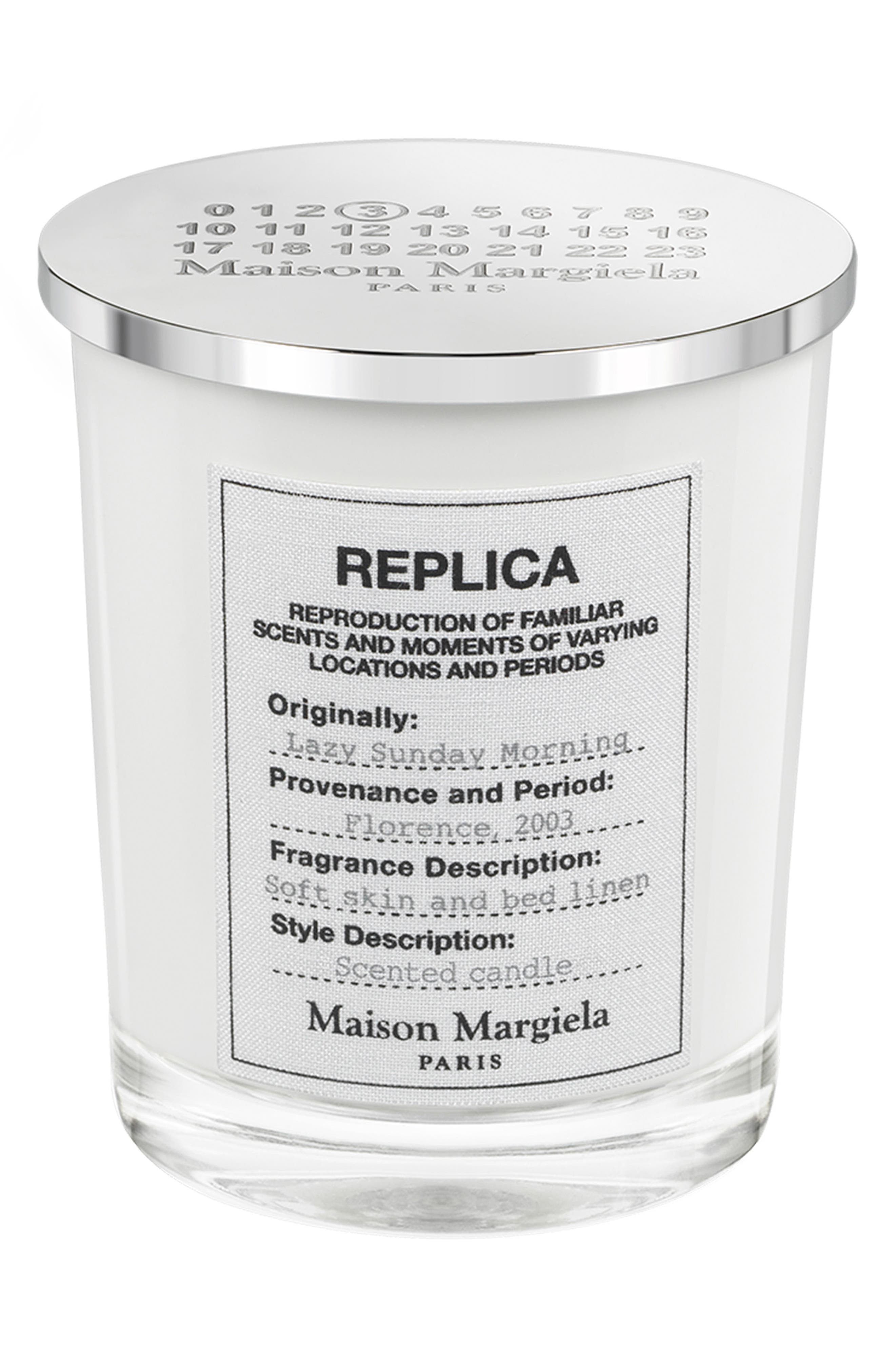 Replica Lazy Sunday Morning Candle,                             Main thumbnail 1, color,                             000