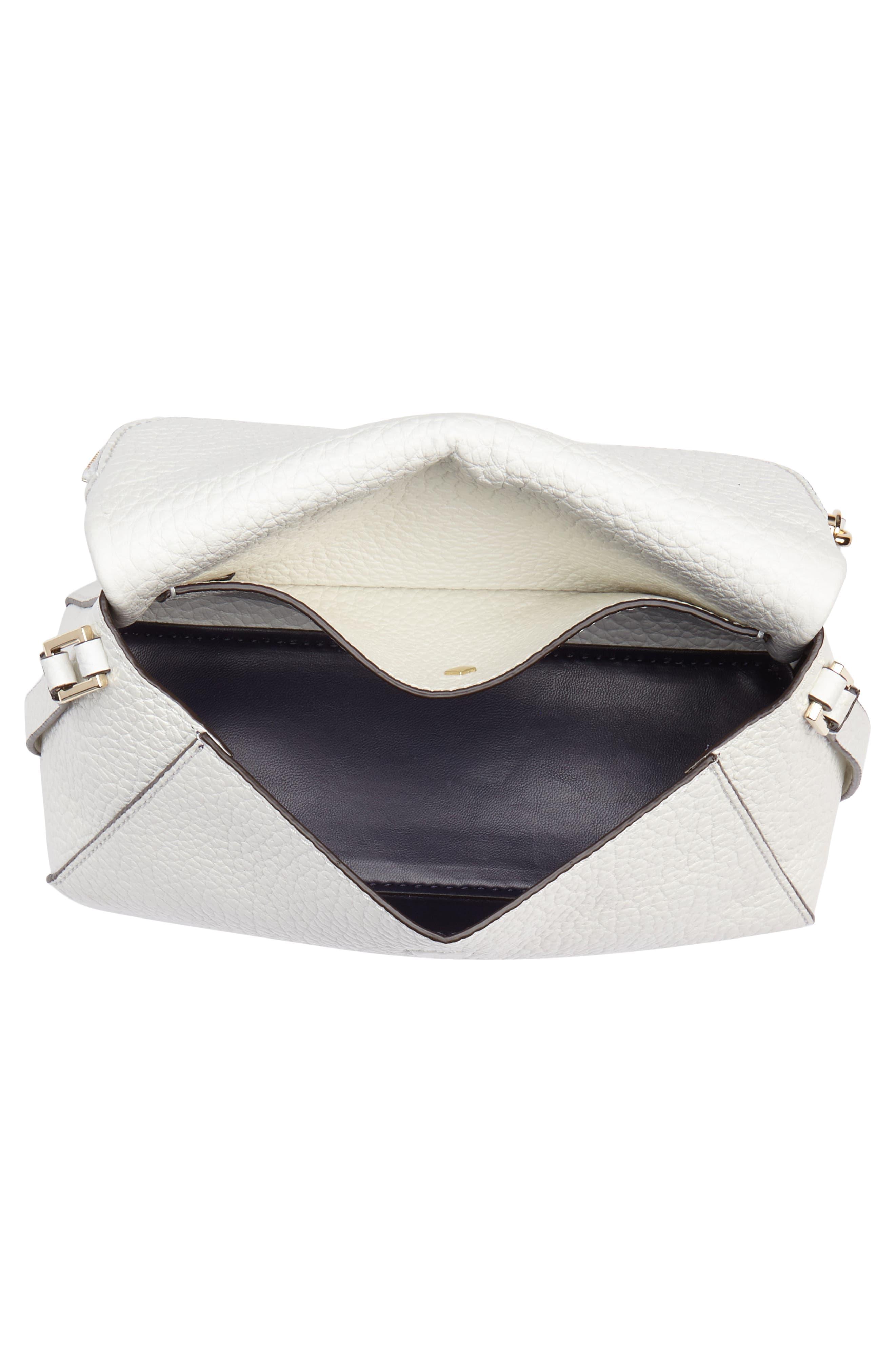 carter street - berrin leather crossbody bag,                             Alternate thumbnail 4, color,                             100