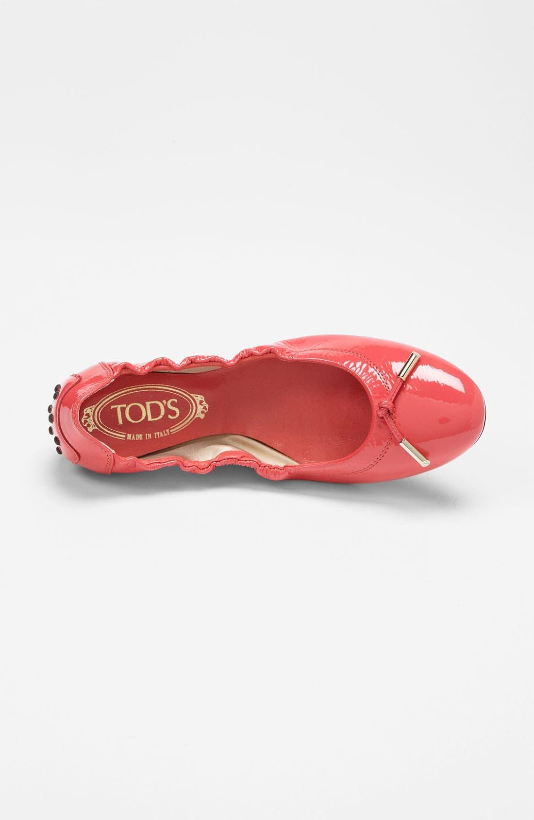 Bow Trim Patent Leather Flat,                             Alternate thumbnail 12, color,