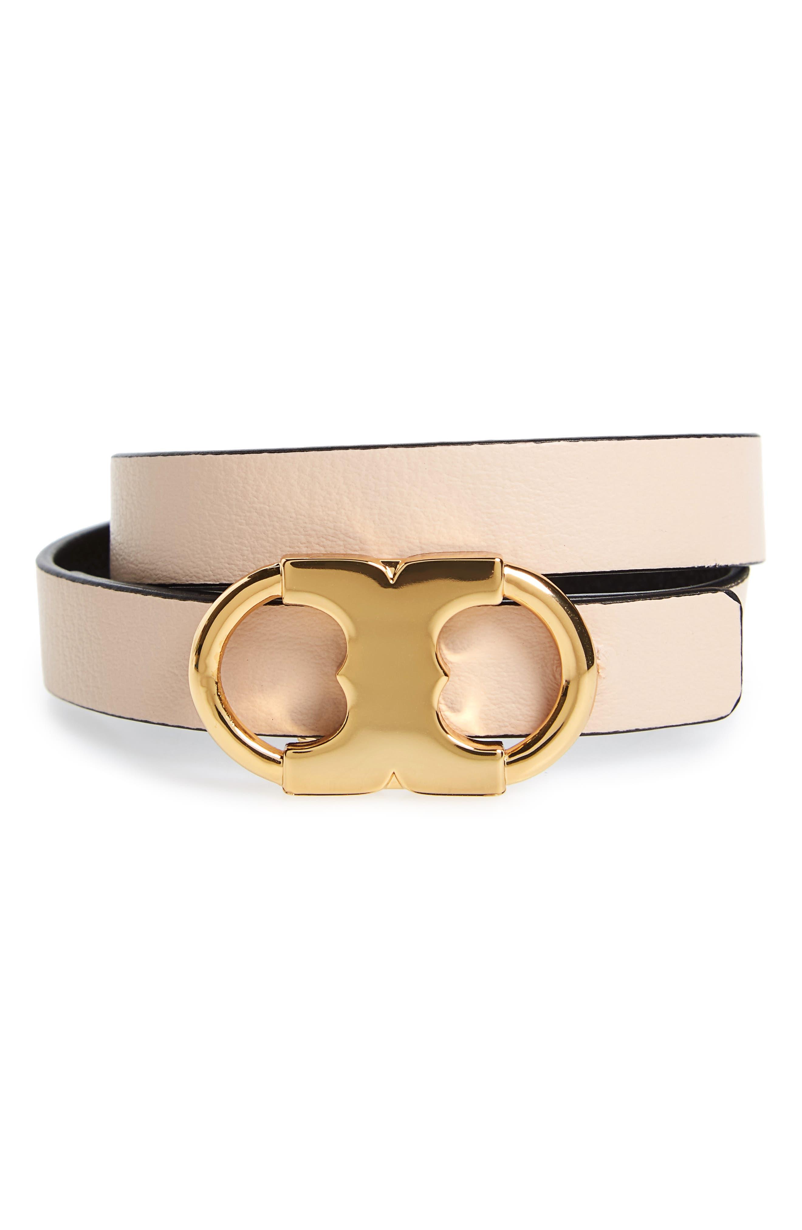 Gemini Link Reversible Wrap Bracelet,                             Alternate thumbnail 2, color,                             LIGHT OAK / BLACK / TORY GOLD
