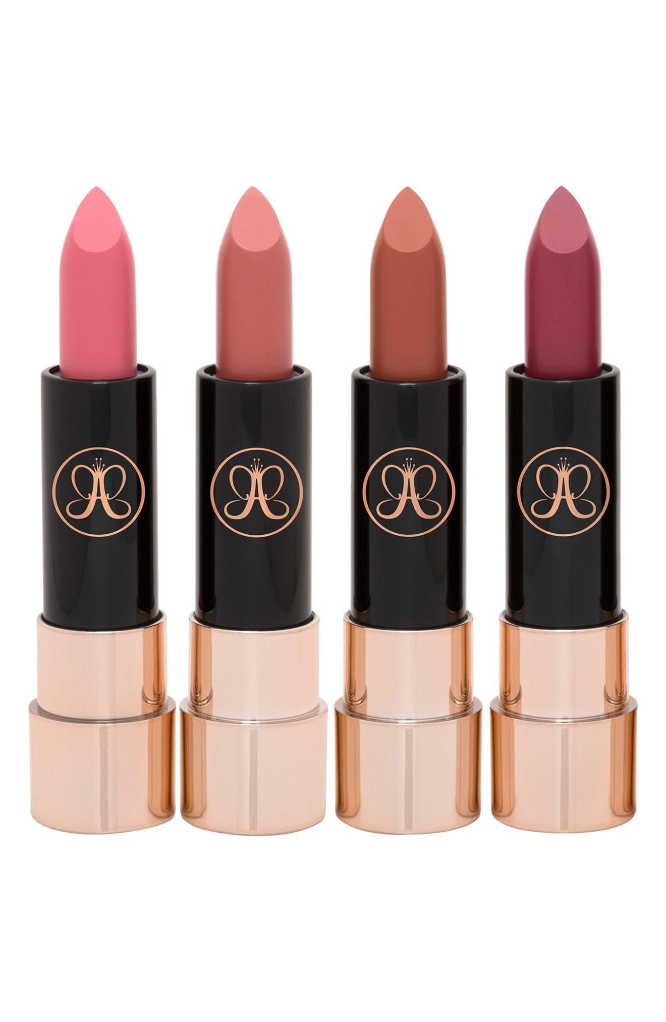 Mini Matte Lipstick Set,                             Main thumbnail 1, color,                             000