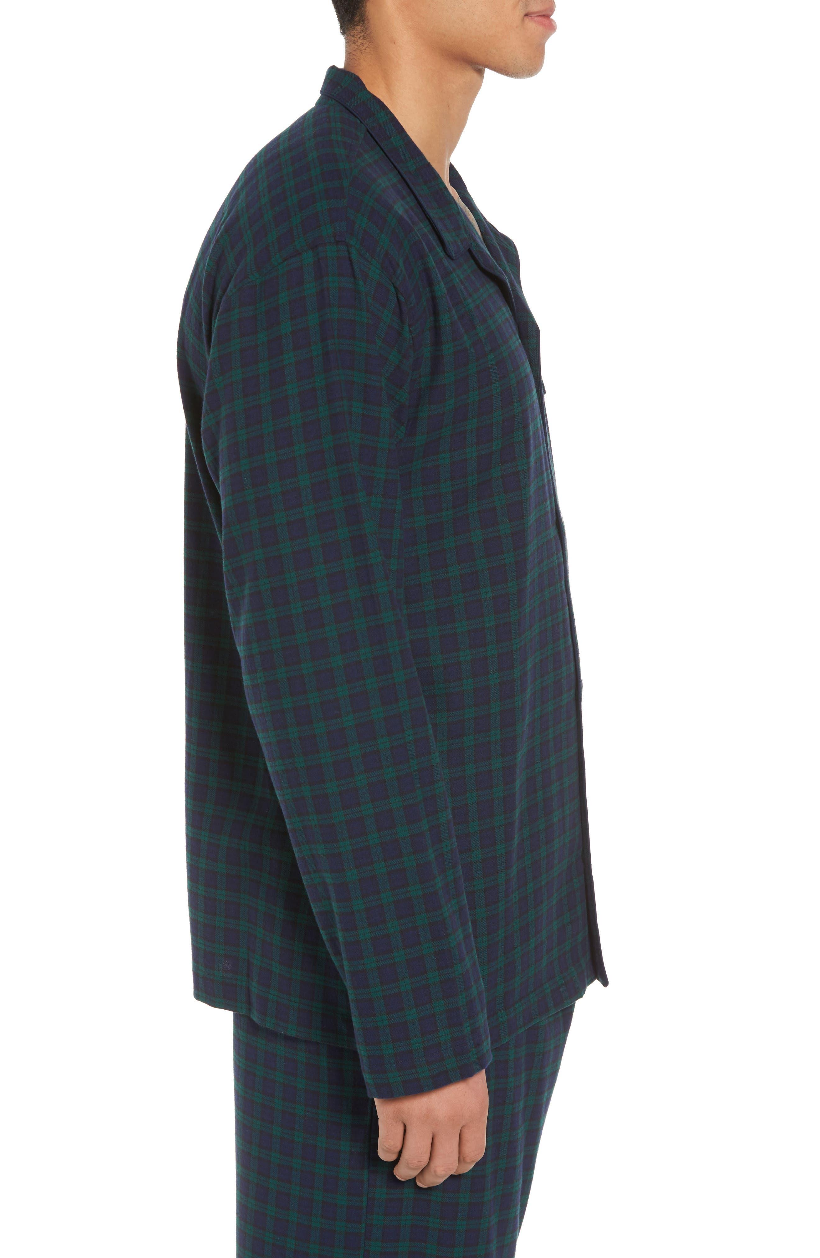 Polo Ralph Lauren Flannel Pajama Shirt,                             Alternate thumbnail 11, color,