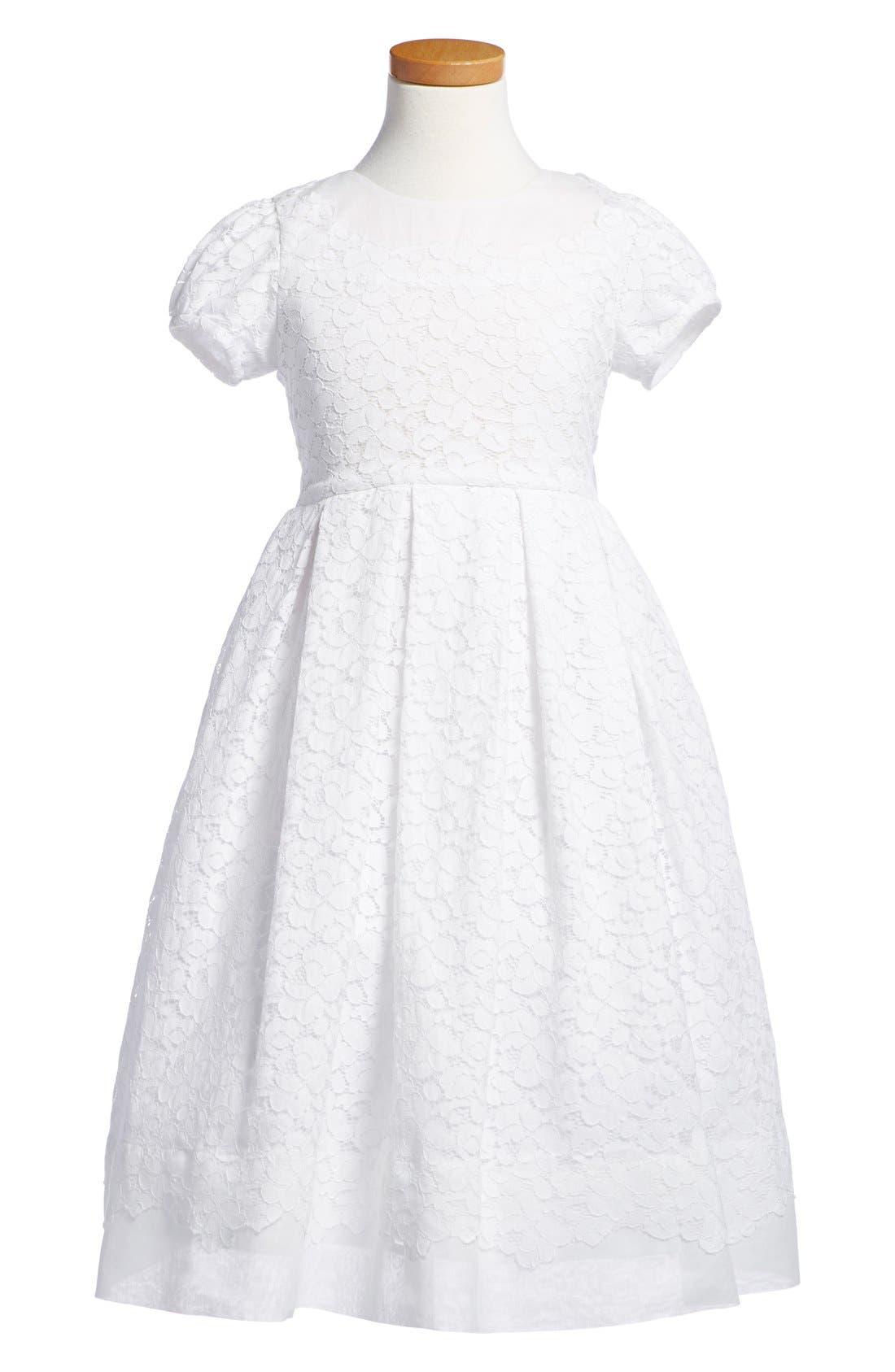 'Gala' Organdy Dress,                         Main,                         color, 111