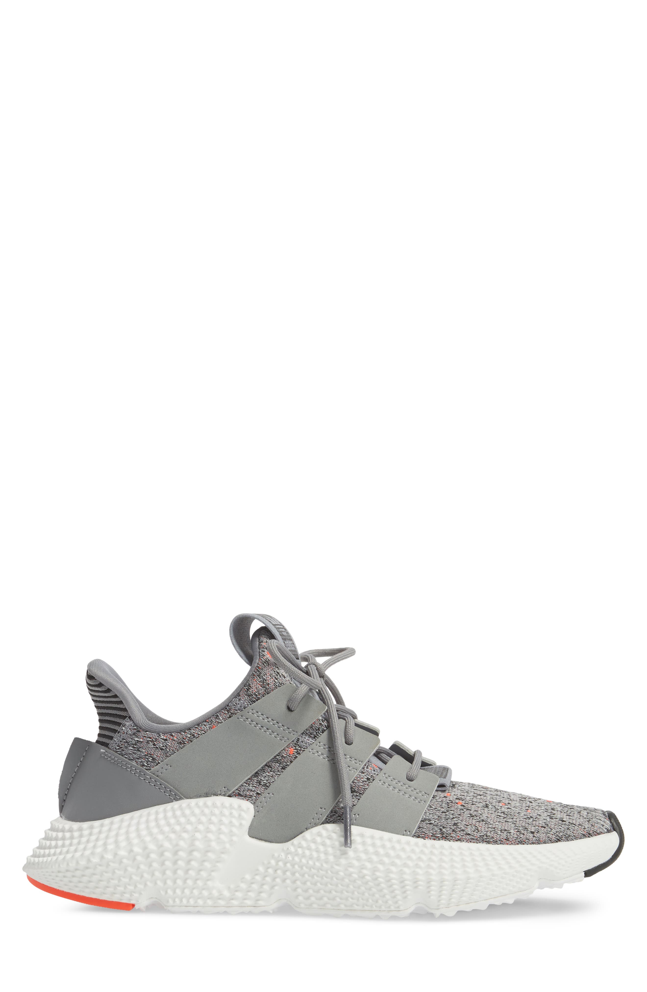 Prophere Sneaker,                             Alternate thumbnail 3, color,                             GREY/ WHITE/ SOLAR RED
