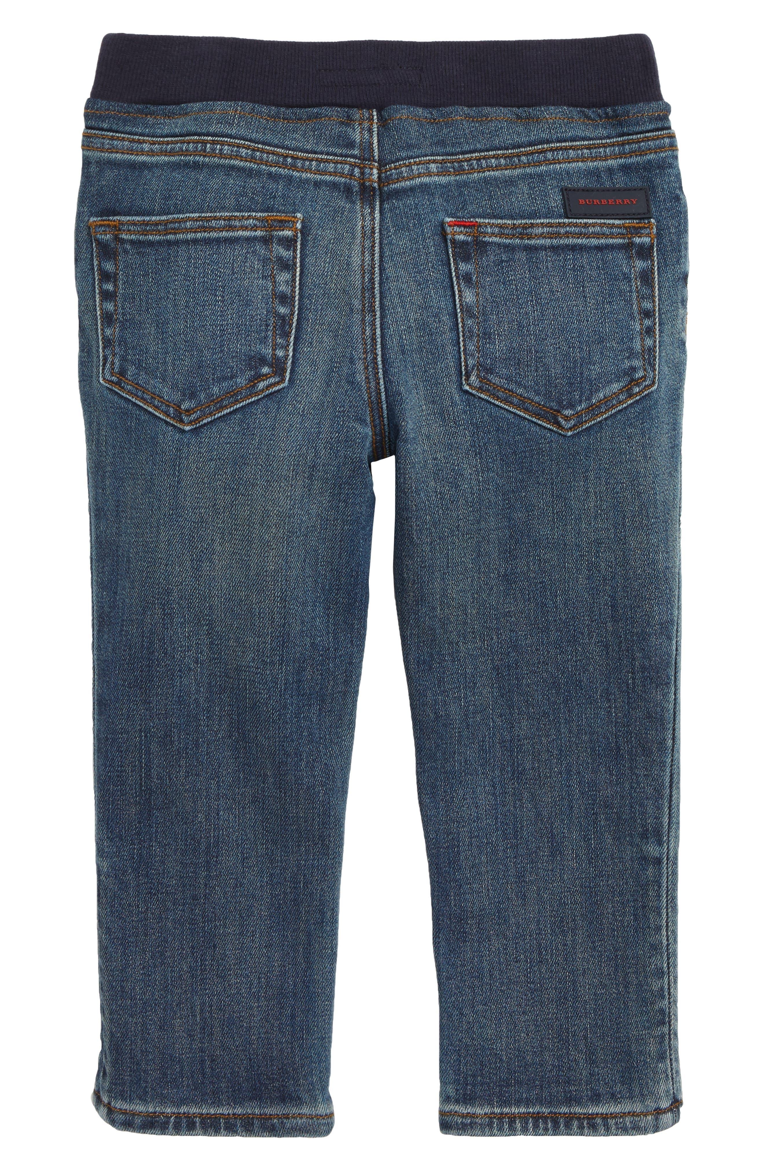 Pull-On Jeans,                             Alternate thumbnail 2, color,                             MID INDIGO