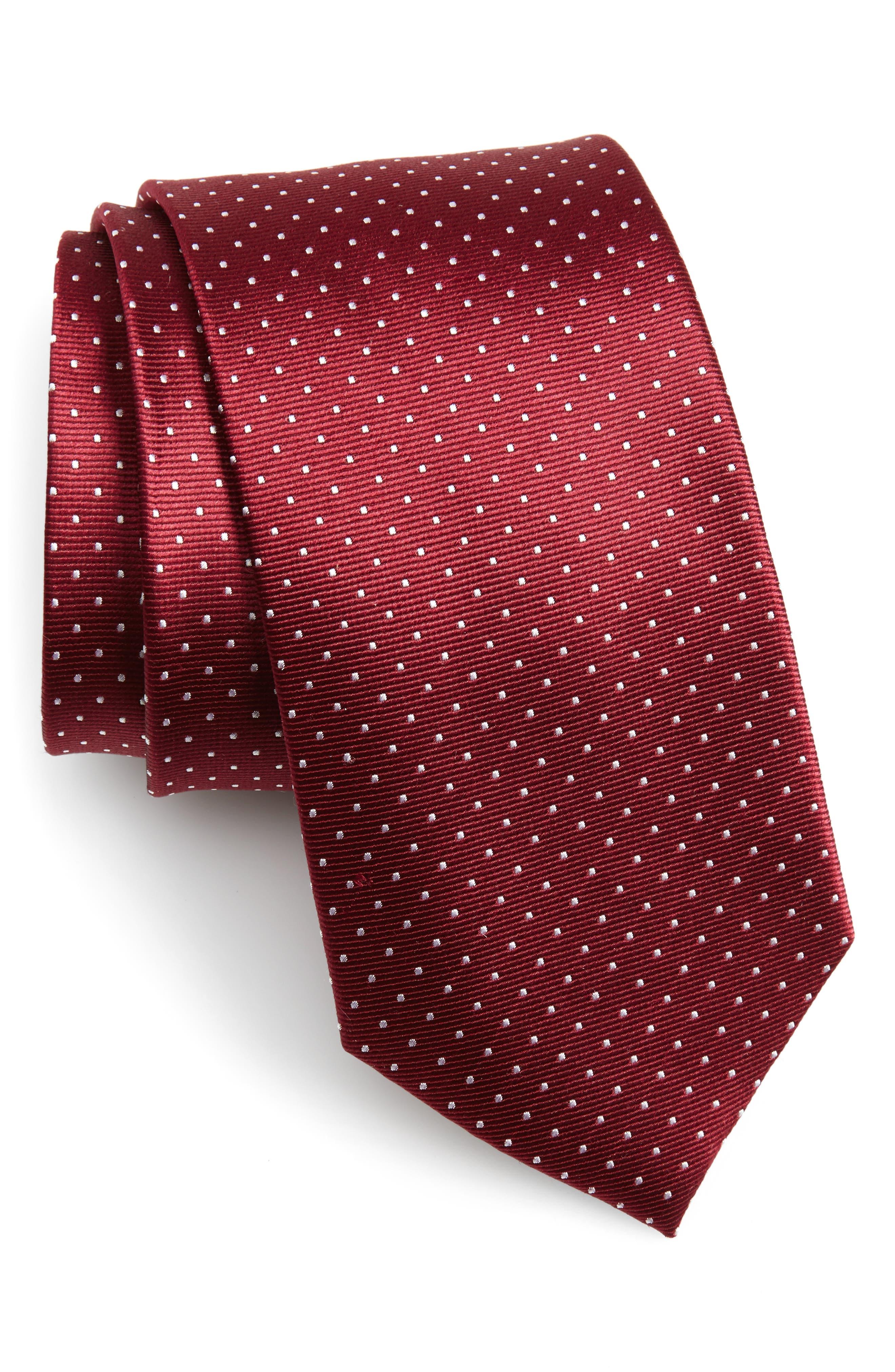 Mini Dots Silk Tie,                             Main thumbnail 2, color,