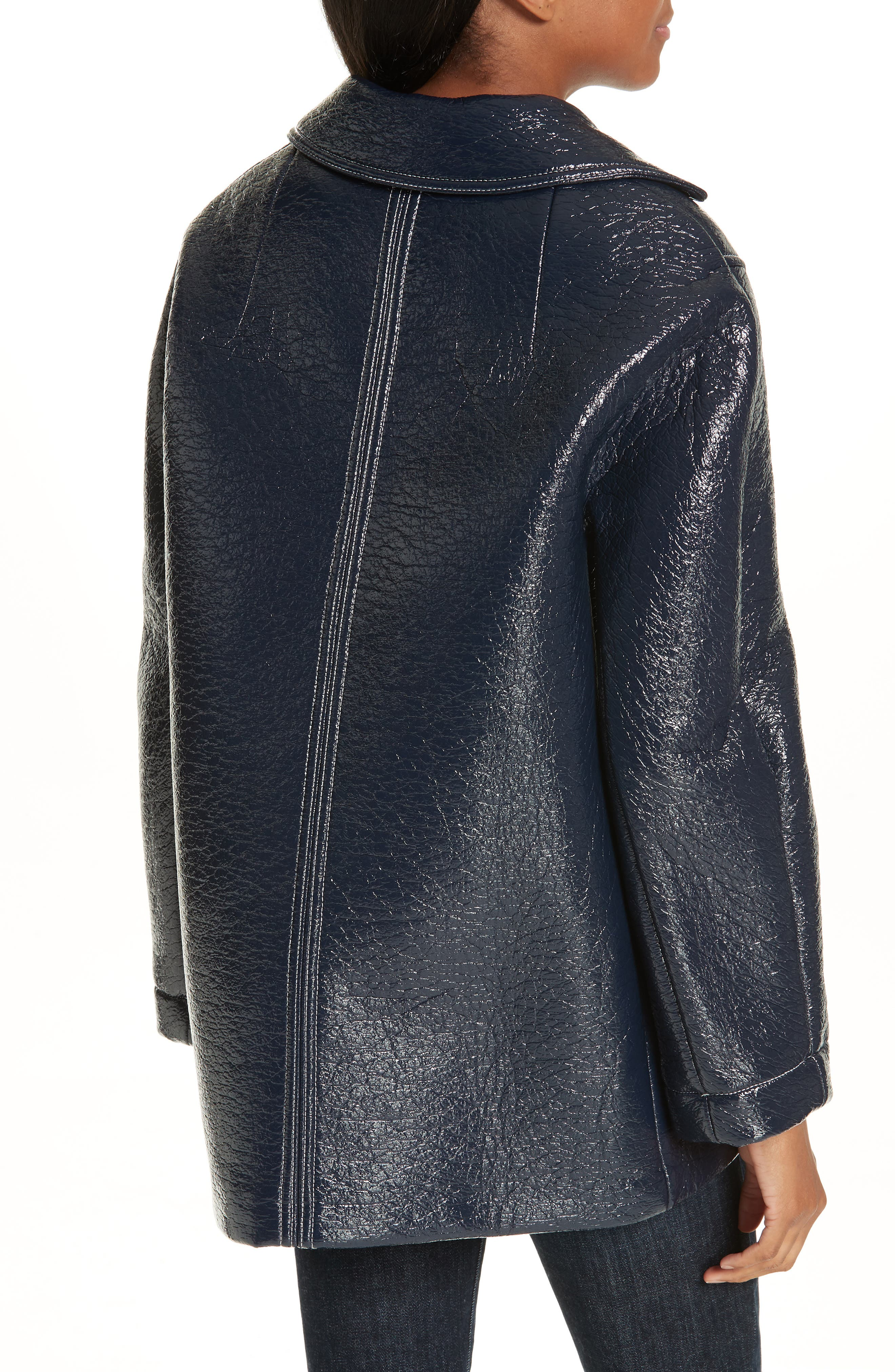 Volupia Faux Leather Coat,                             Alternate thumbnail 2, color,                             400