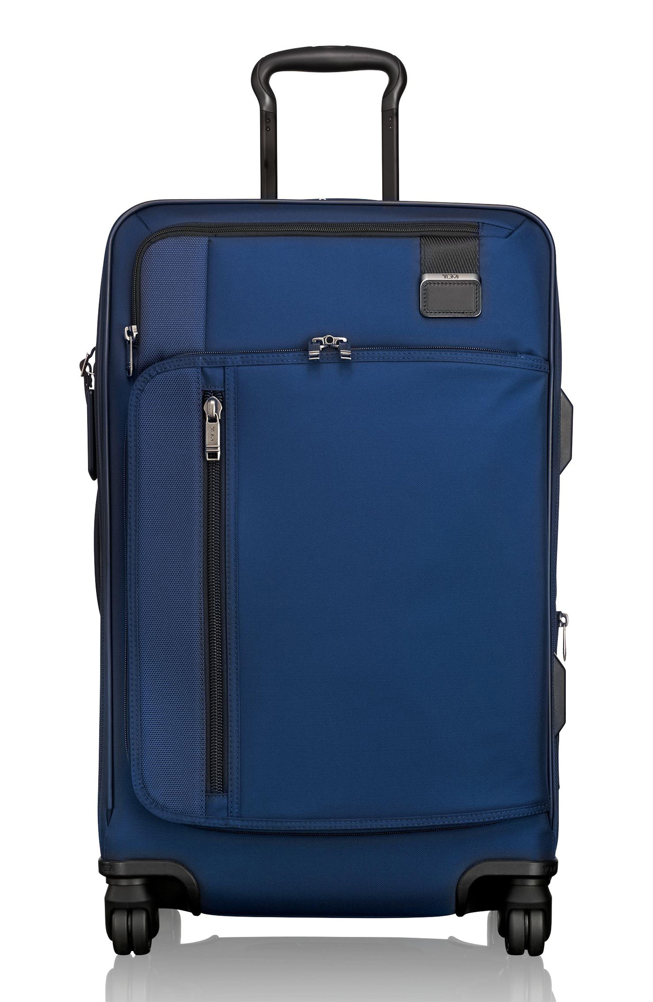 Merge - Short Trip Expandable Rolling Suitcase,                             Main thumbnail 1, color,                             OCEAN BLUE