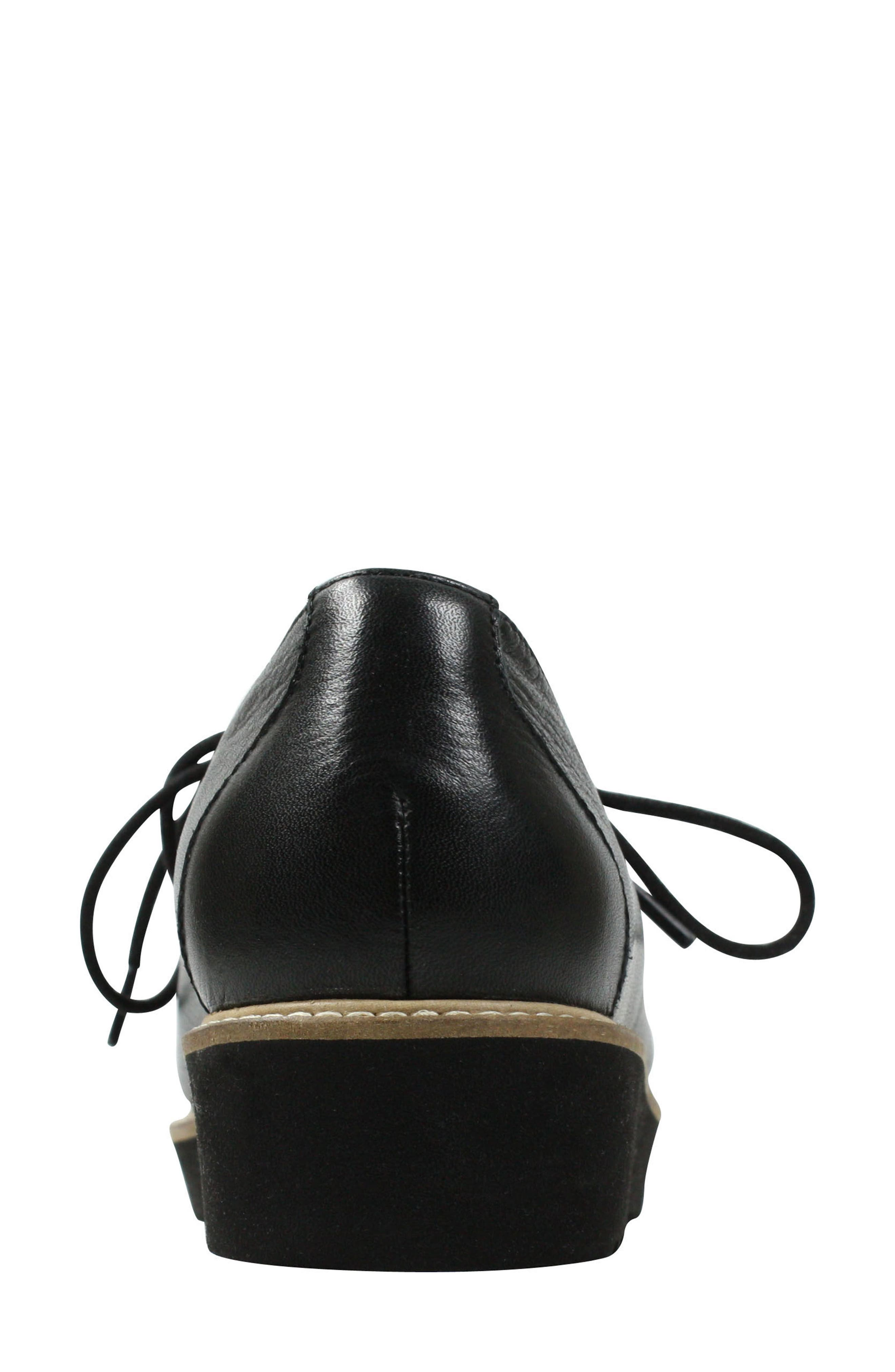 Ximena Loafer,                             Alternate thumbnail 5, color,                             BLACK LEATHER