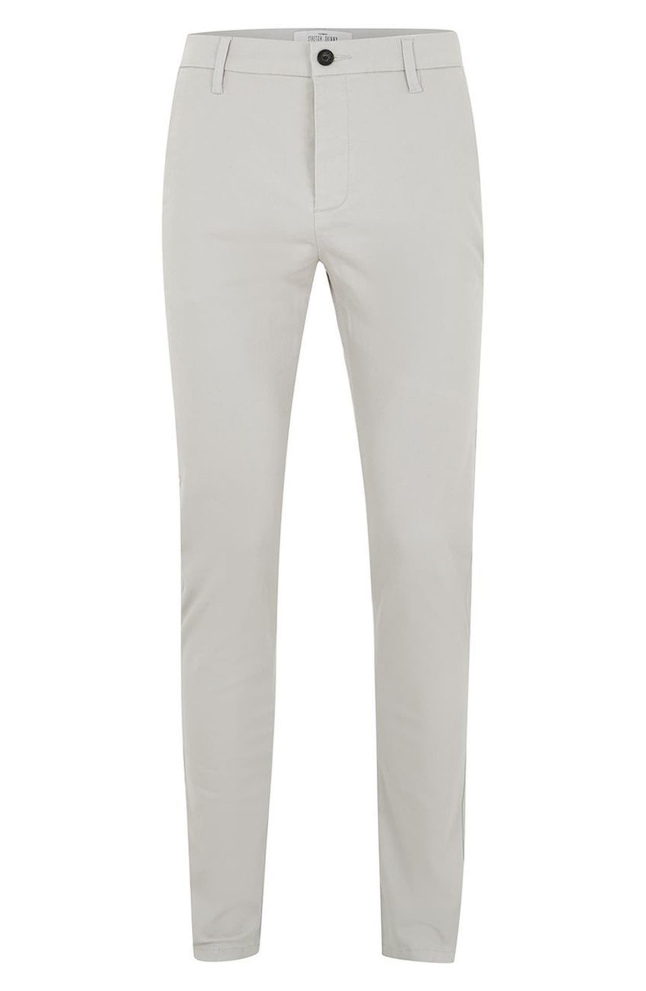 Stretch Skinny Fit Chinos,                             Alternate thumbnail 4, color,                             020