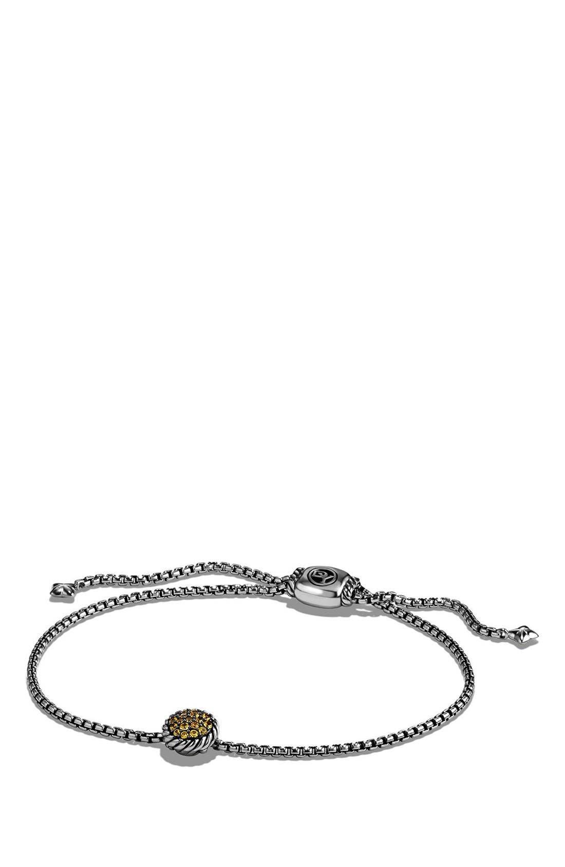 'Châtelaine' Petite Bracelet,                             Main thumbnail 1, color,                             SILVER/ YELLOW SAPPHIRE