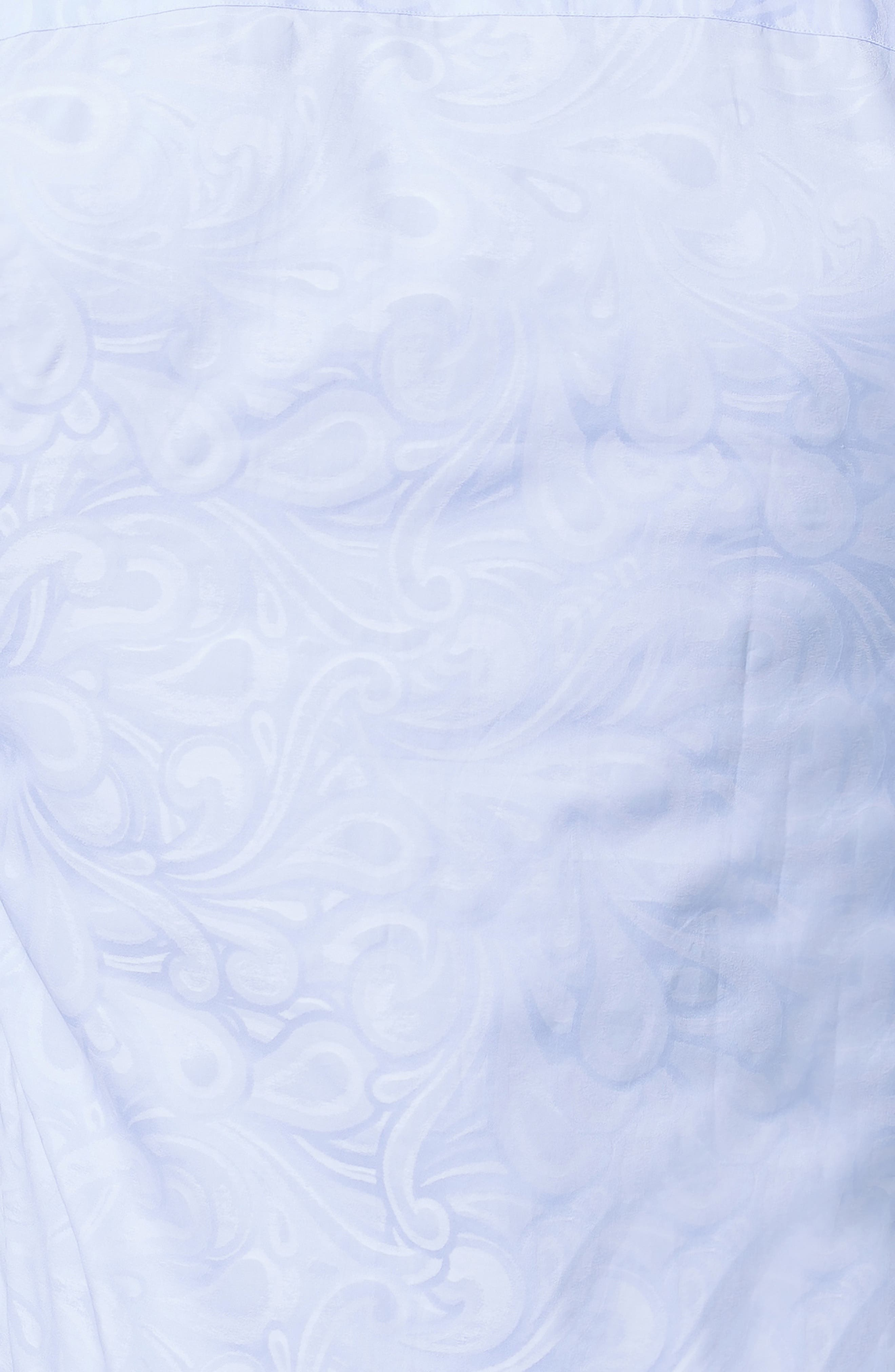 Fibonacci Flow Trim Fit Sport Shirt,                             Alternate thumbnail 3, color,                             BLUE