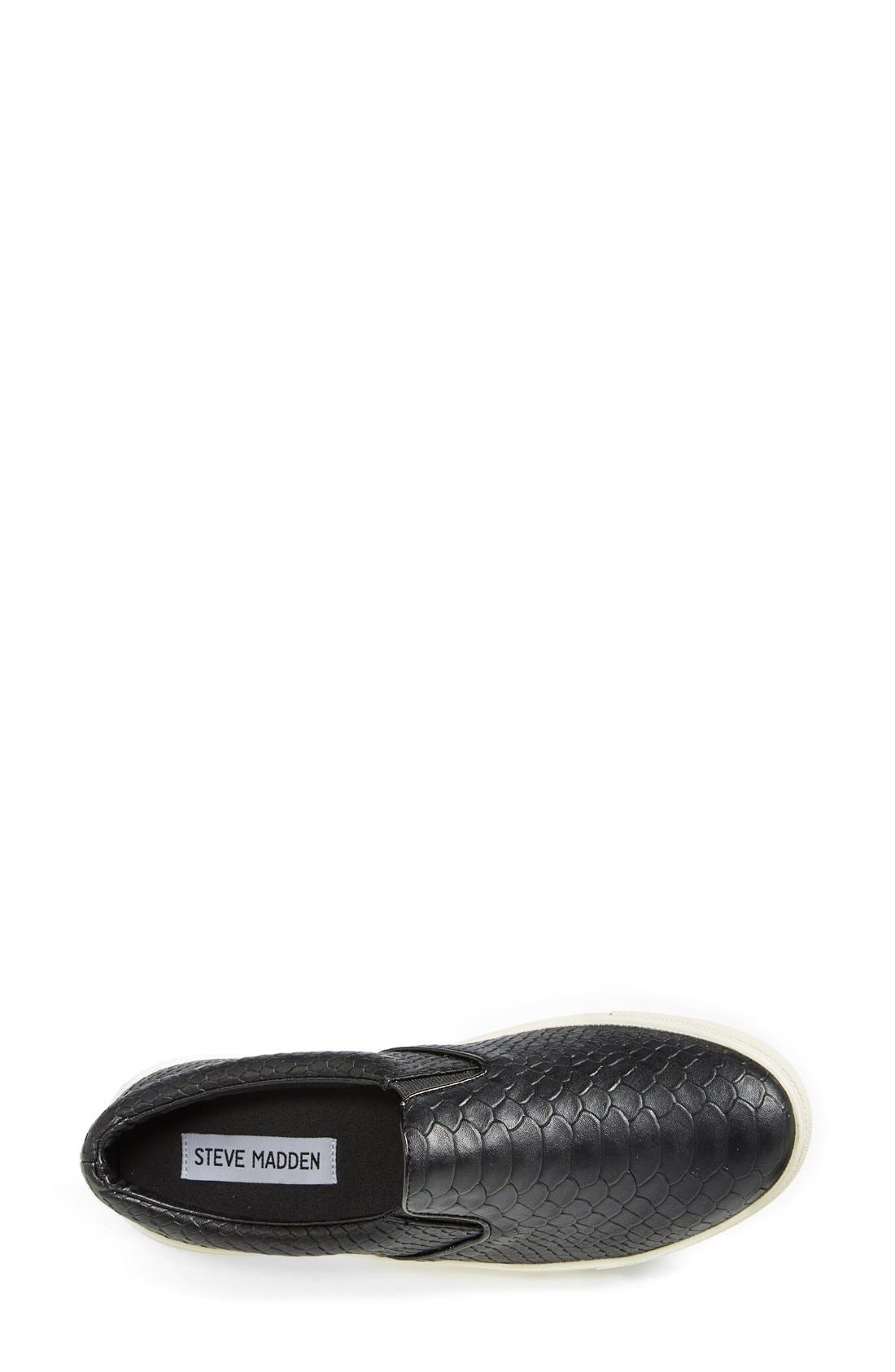 'Ecntrc-c' Snake-Embossed Slip-On Sneaker,                             Alternate thumbnail 3, color,