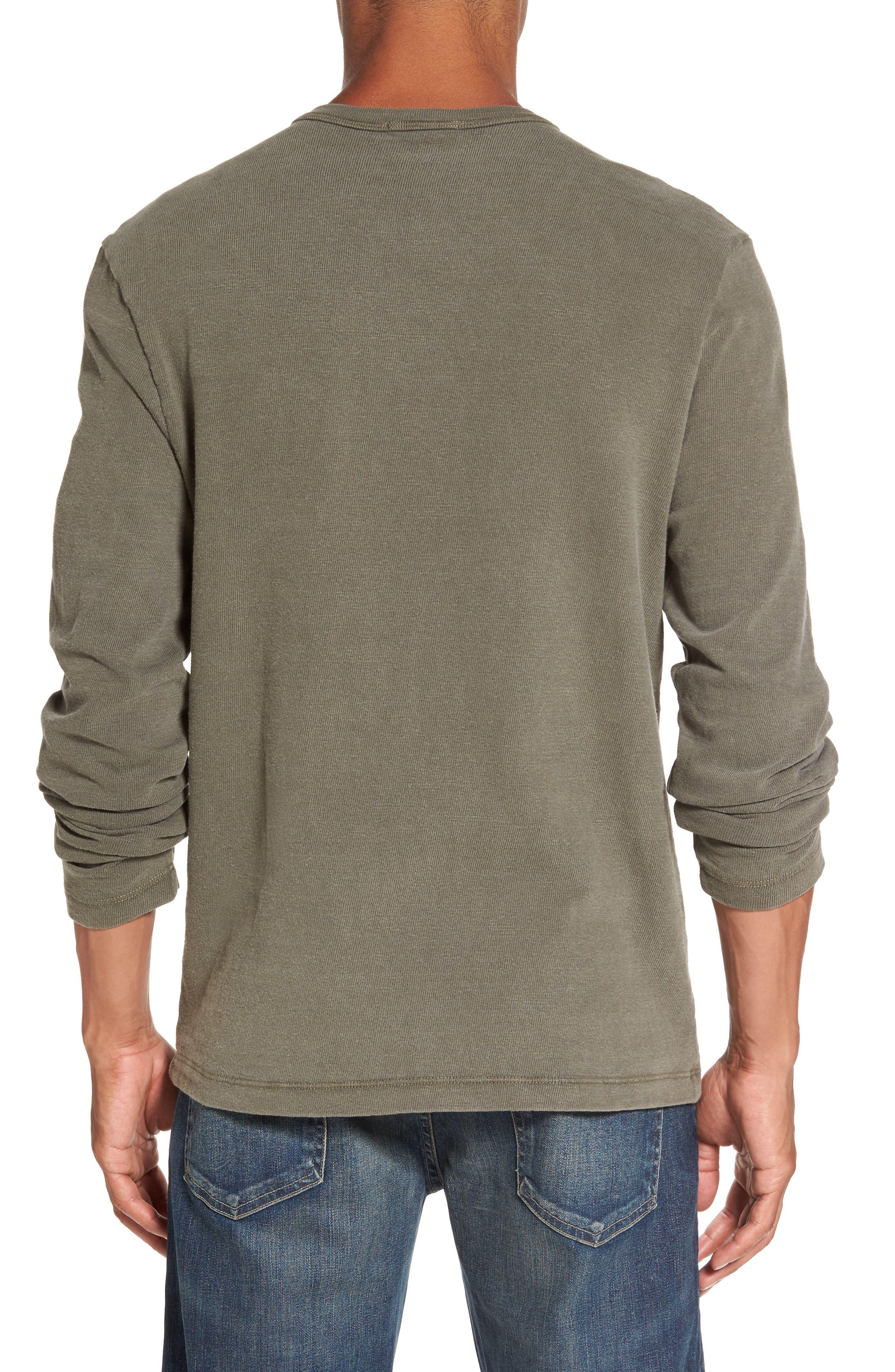 Long Sleeve Henley T-Shirt,                             Alternate thumbnail 5, color,