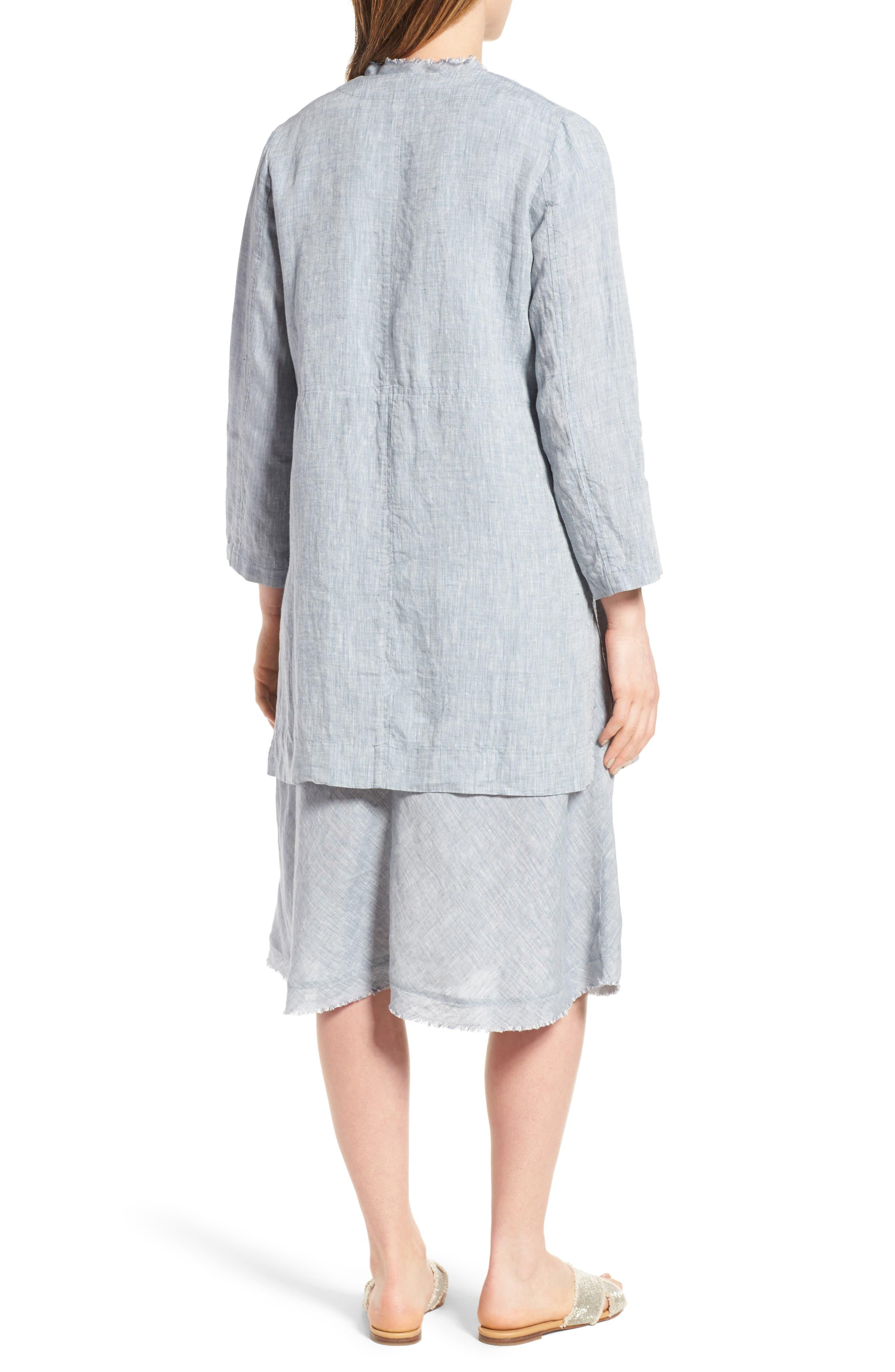 Long Organic Linen Jacket,                             Alternate thumbnail 2, color,                             416