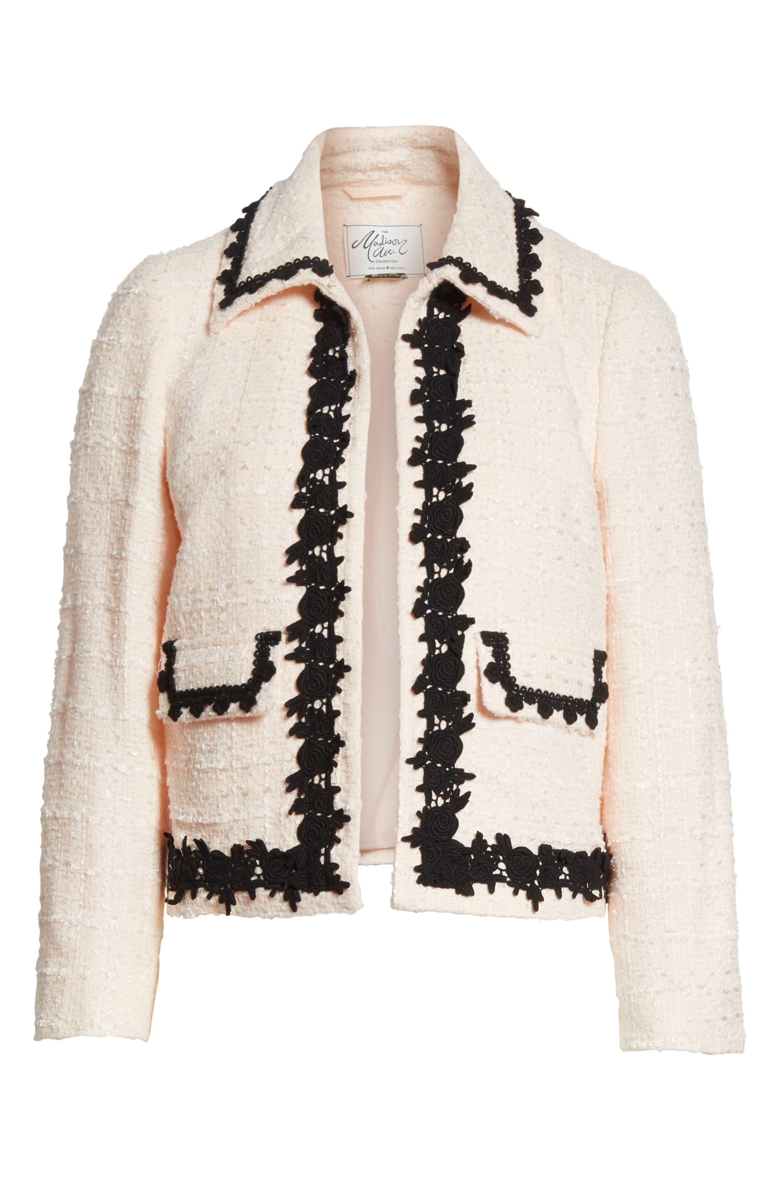 reagan embellished bouclé jacket,                             Alternate thumbnail 5, color,                             672