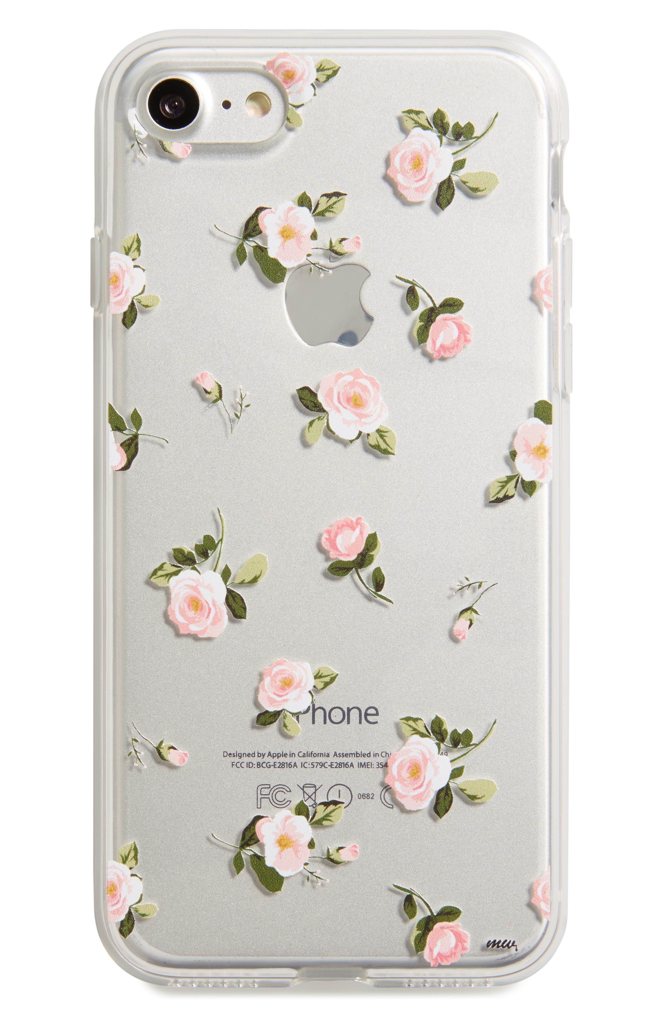 Floral iPhone 7 Case,                             Main thumbnail 1, color,                             650