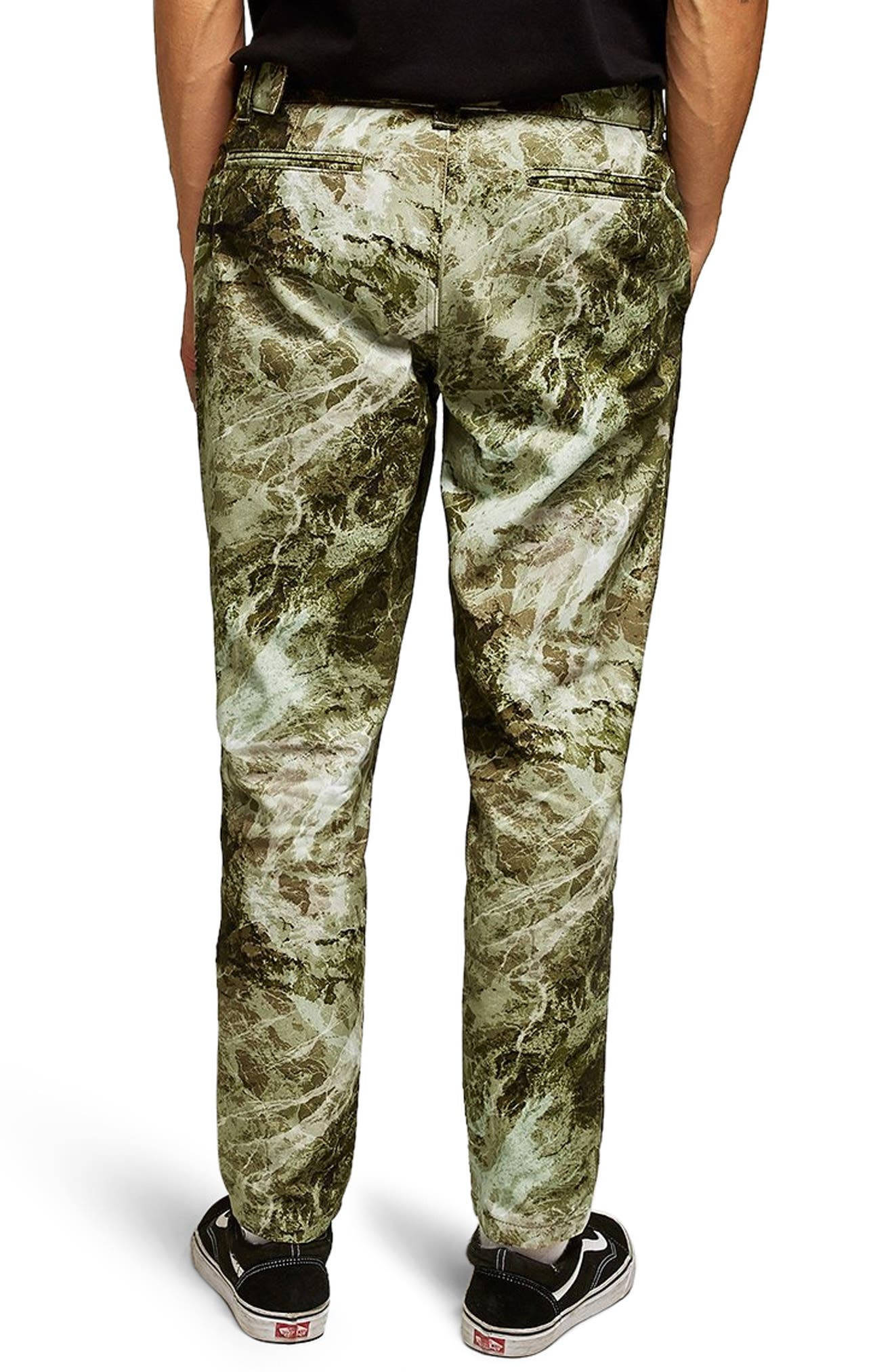 Sand Camouflage Tapered Trousers,                             Alternate thumbnail 2, color,                             GREEN MULTI