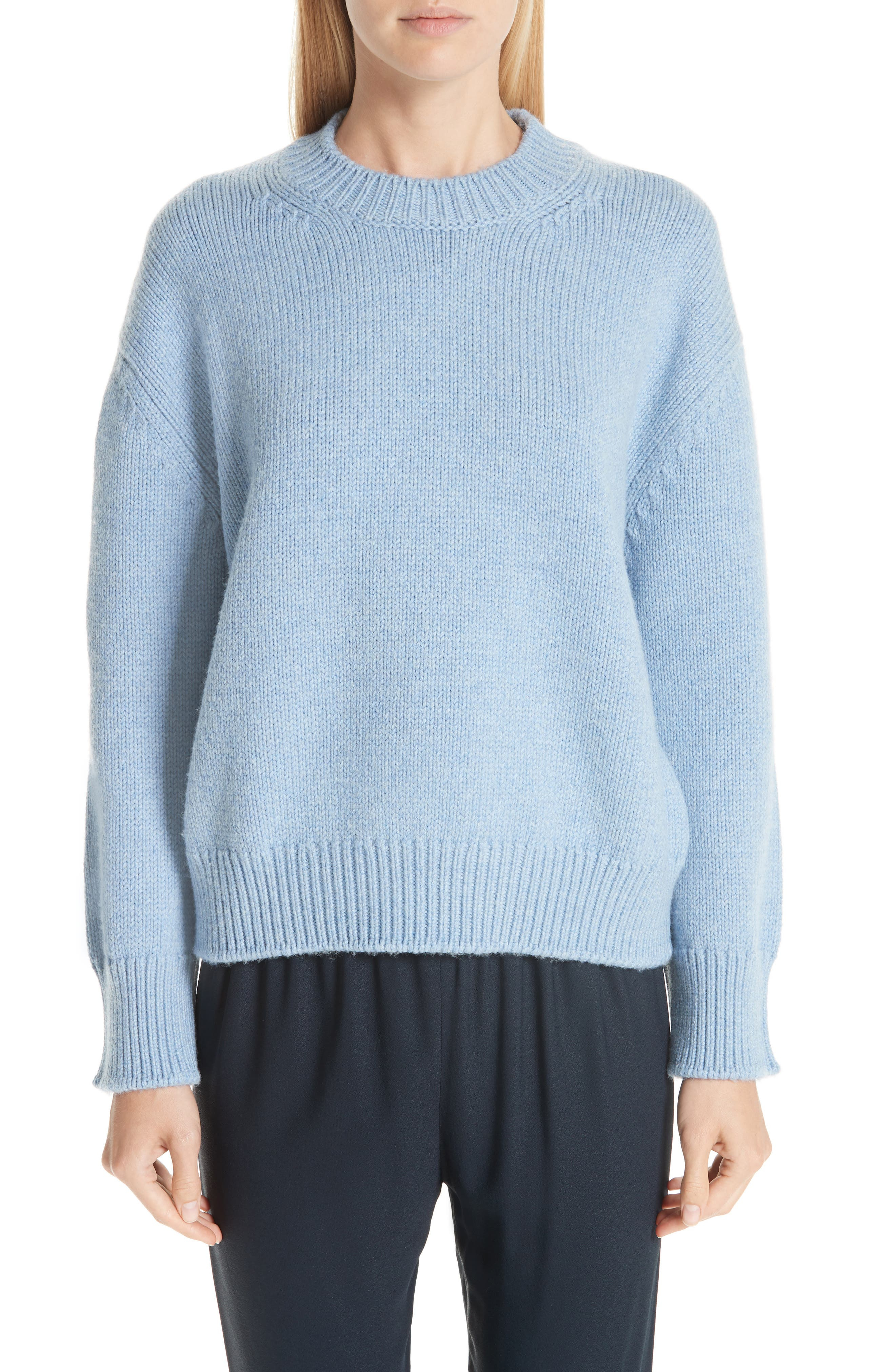 Merino Wool Sweater,                             Main thumbnail 1, color,                             SKY BLUE