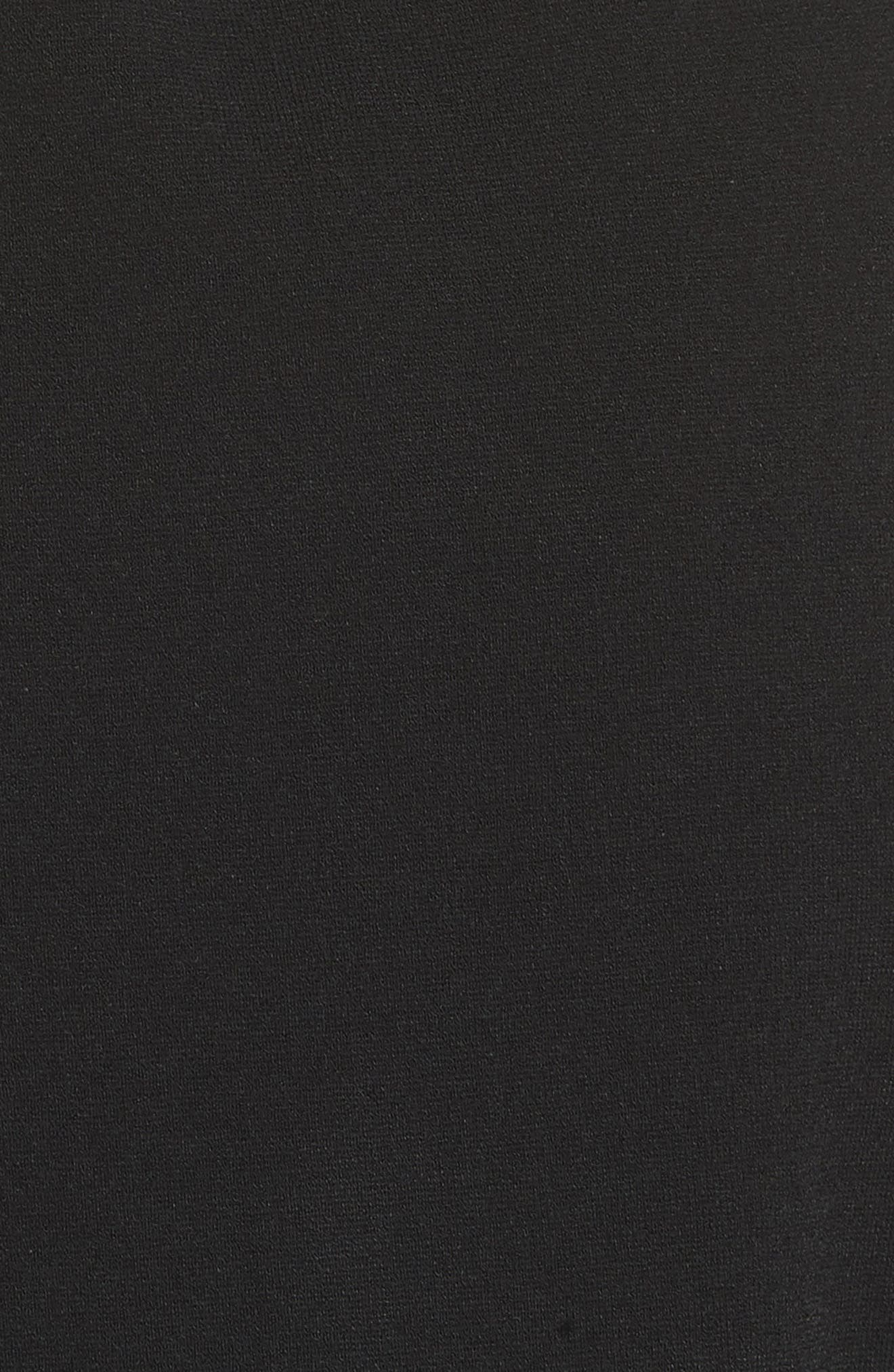 Diane von Furstenberg Wrap Sweater Dress,                             Alternate thumbnail 5, color,                             006