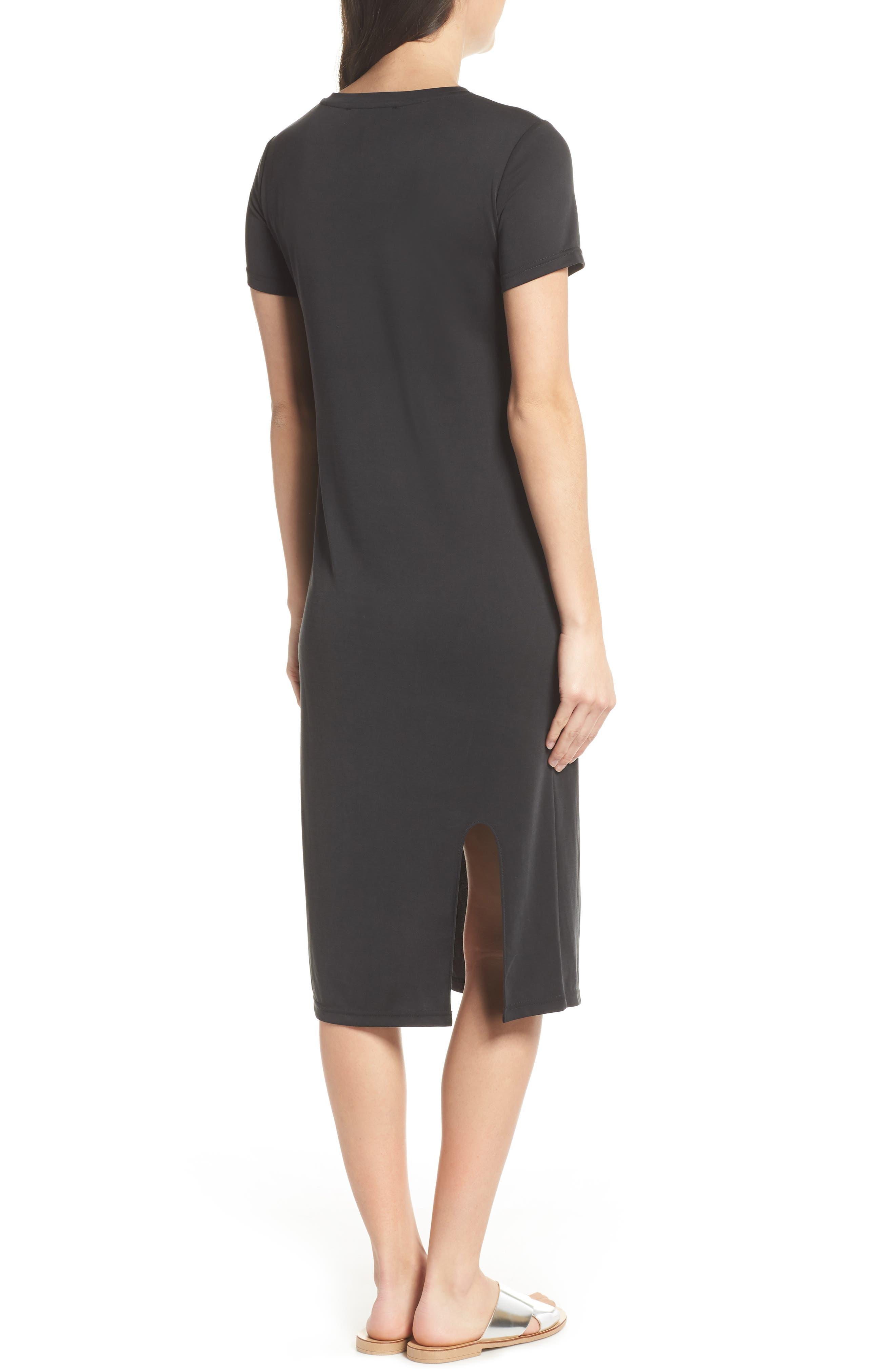 Jersey Midi Dress,                             Alternate thumbnail 2, color,                             001