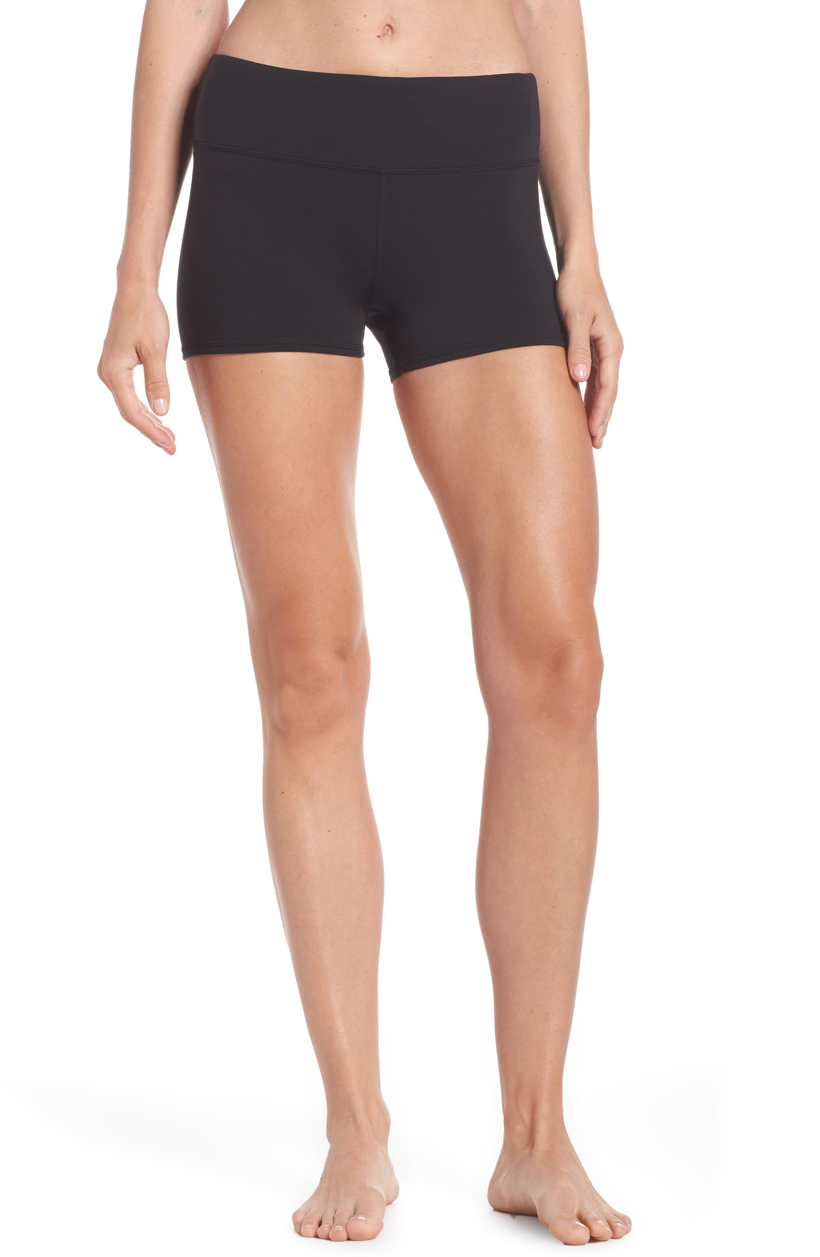 Airbrush Shorts,                             Main thumbnail 1, color,                             BLACK