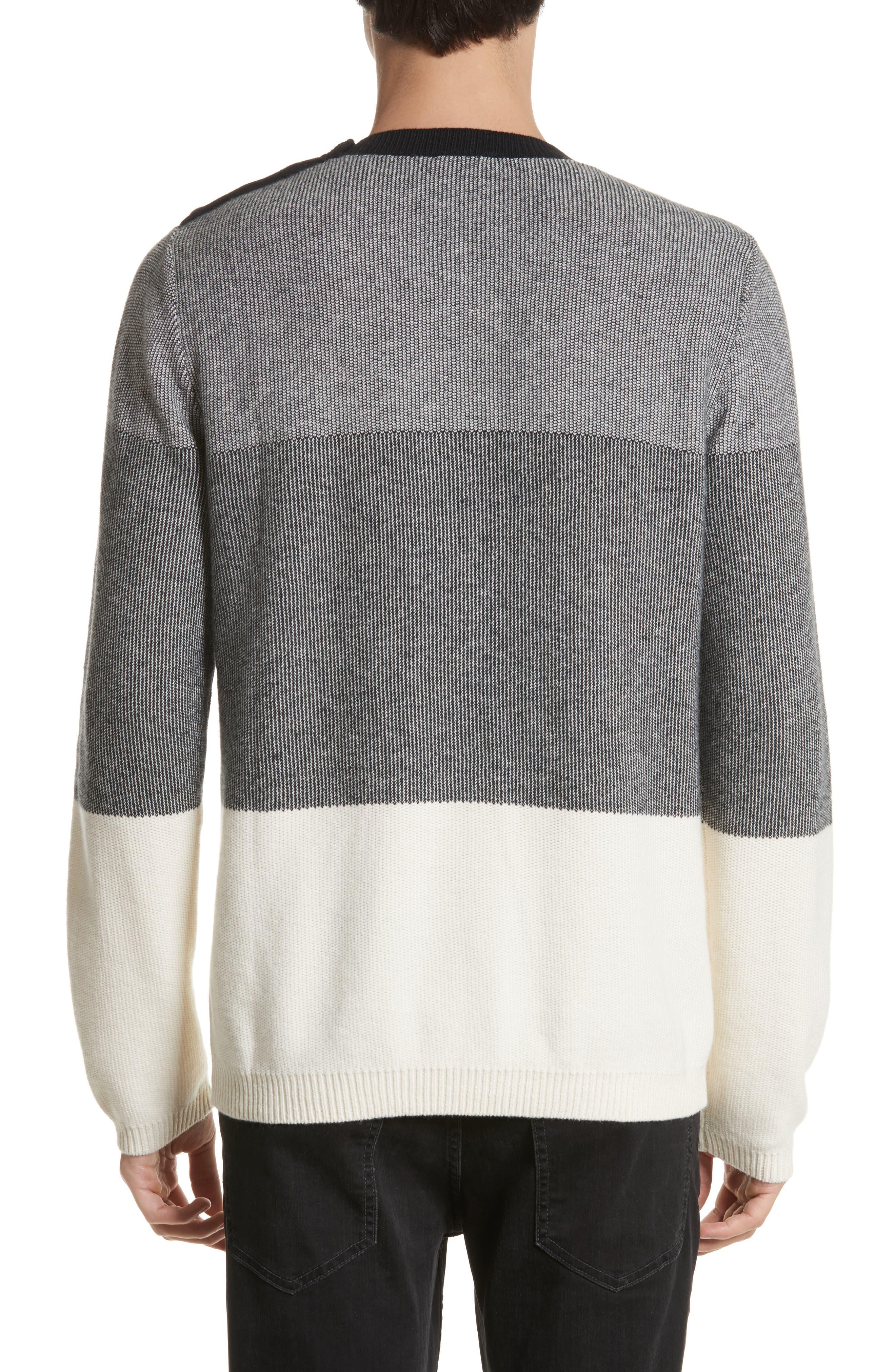 Colorblock Crewneck Sweater,                             Alternate thumbnail 2, color,                             001