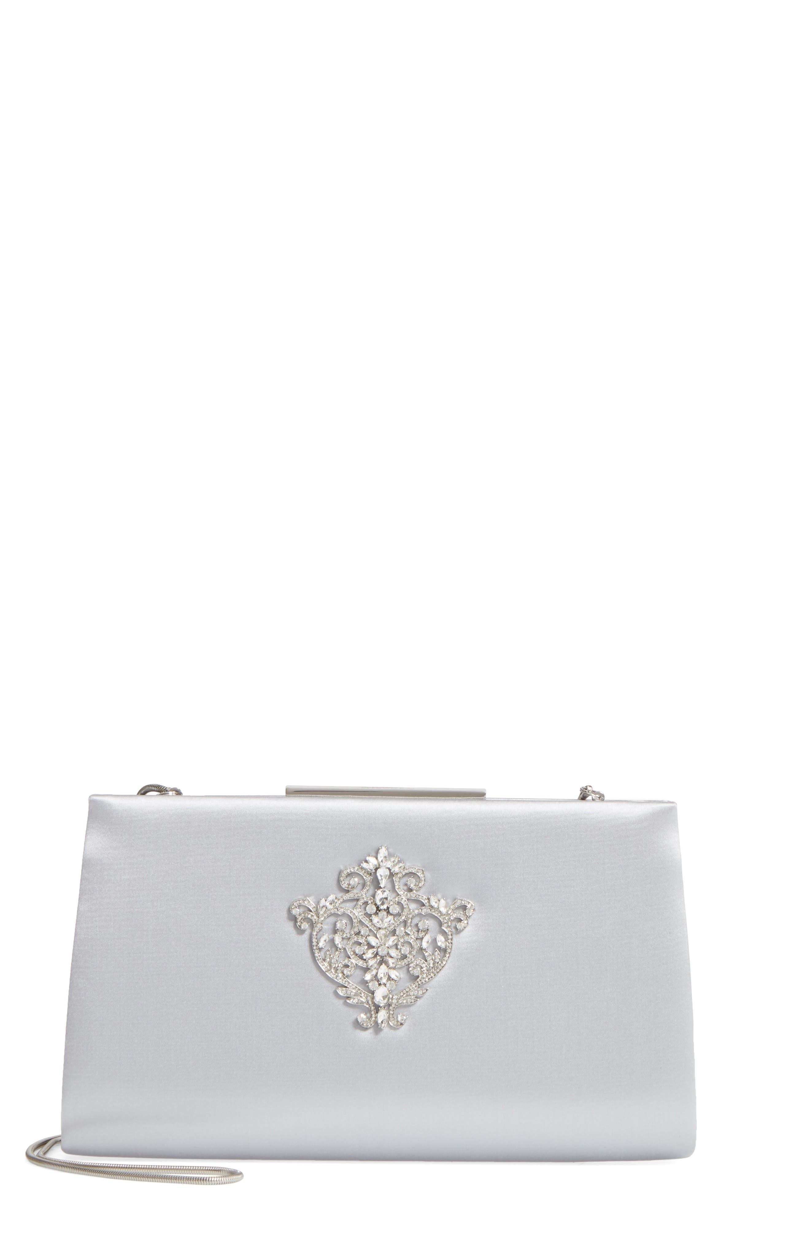 Dare Satin Clutch,                             Main thumbnail 1, color,