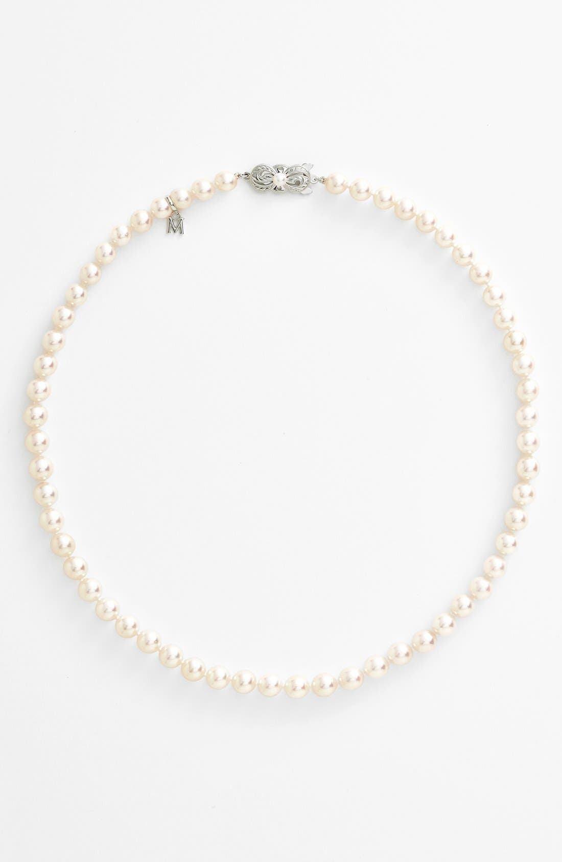Akoya Cultured Pearl Necklace,                             Alternate thumbnail 2, color,                             710
