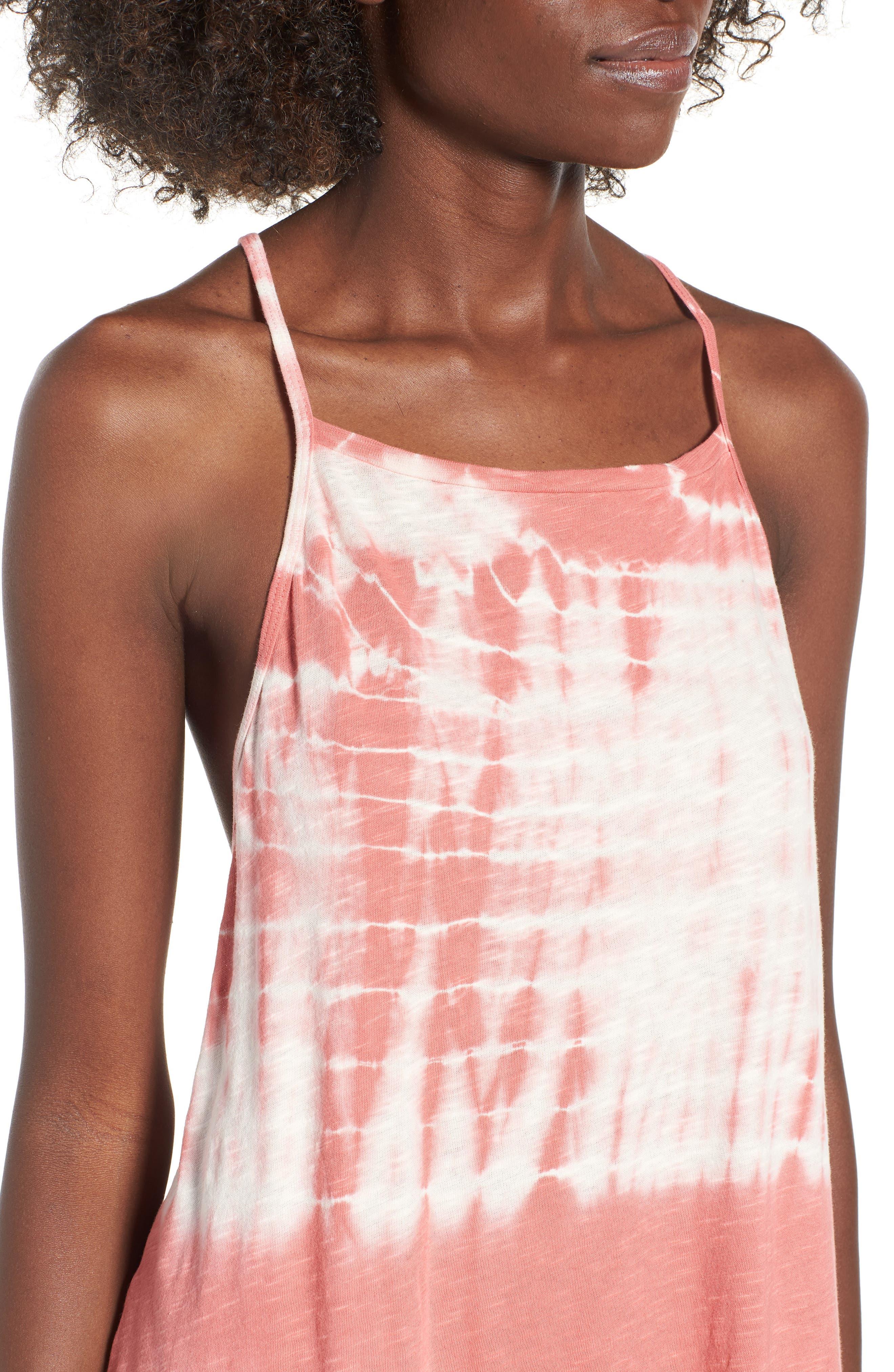 Turn Away Tie Dye Dress,                             Alternate thumbnail 4, color,                             SUNBURNT