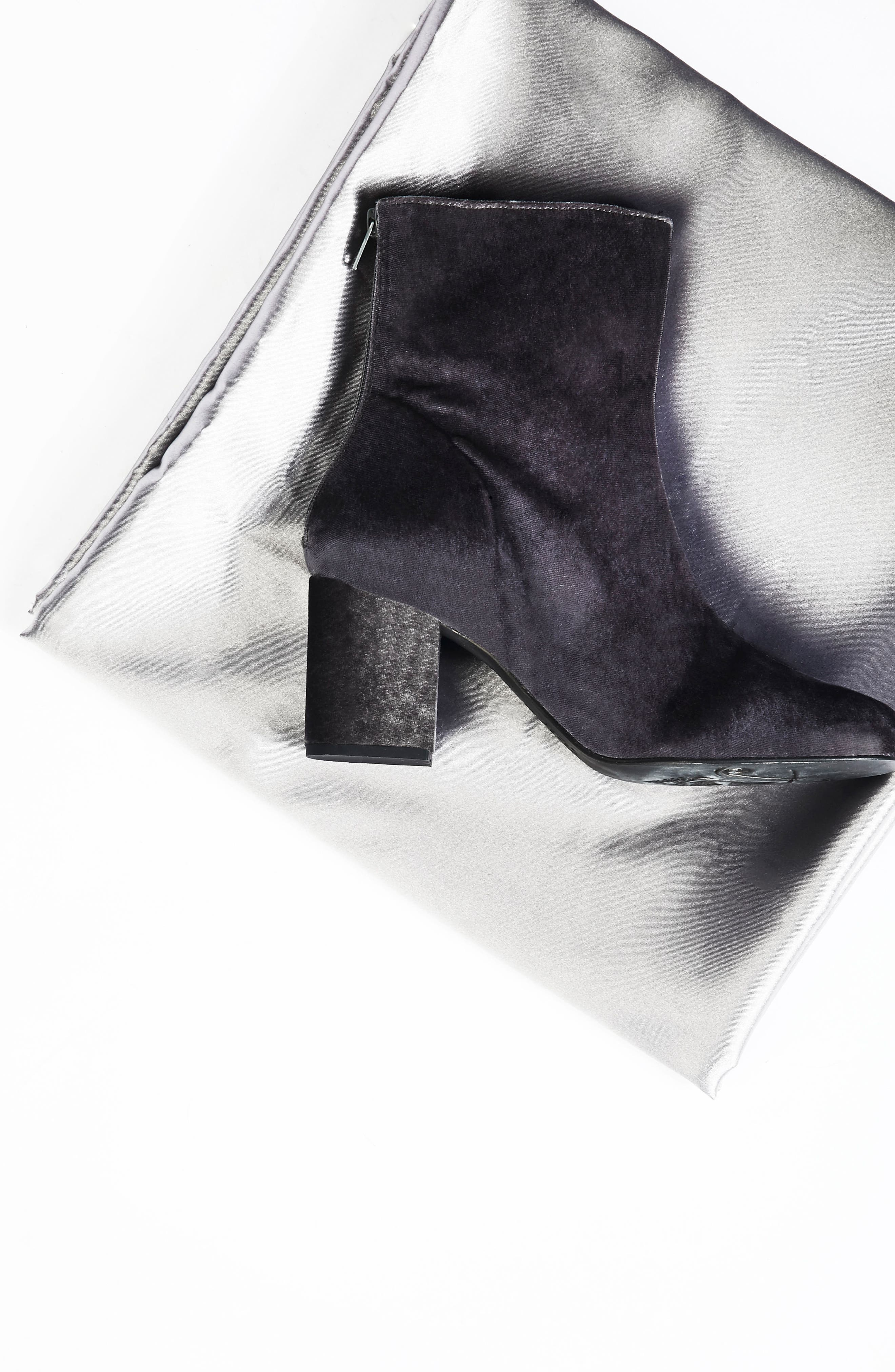 Cecile Block Heel Bootie,                             Alternate thumbnail 8, color,                             BLACK SUEDE