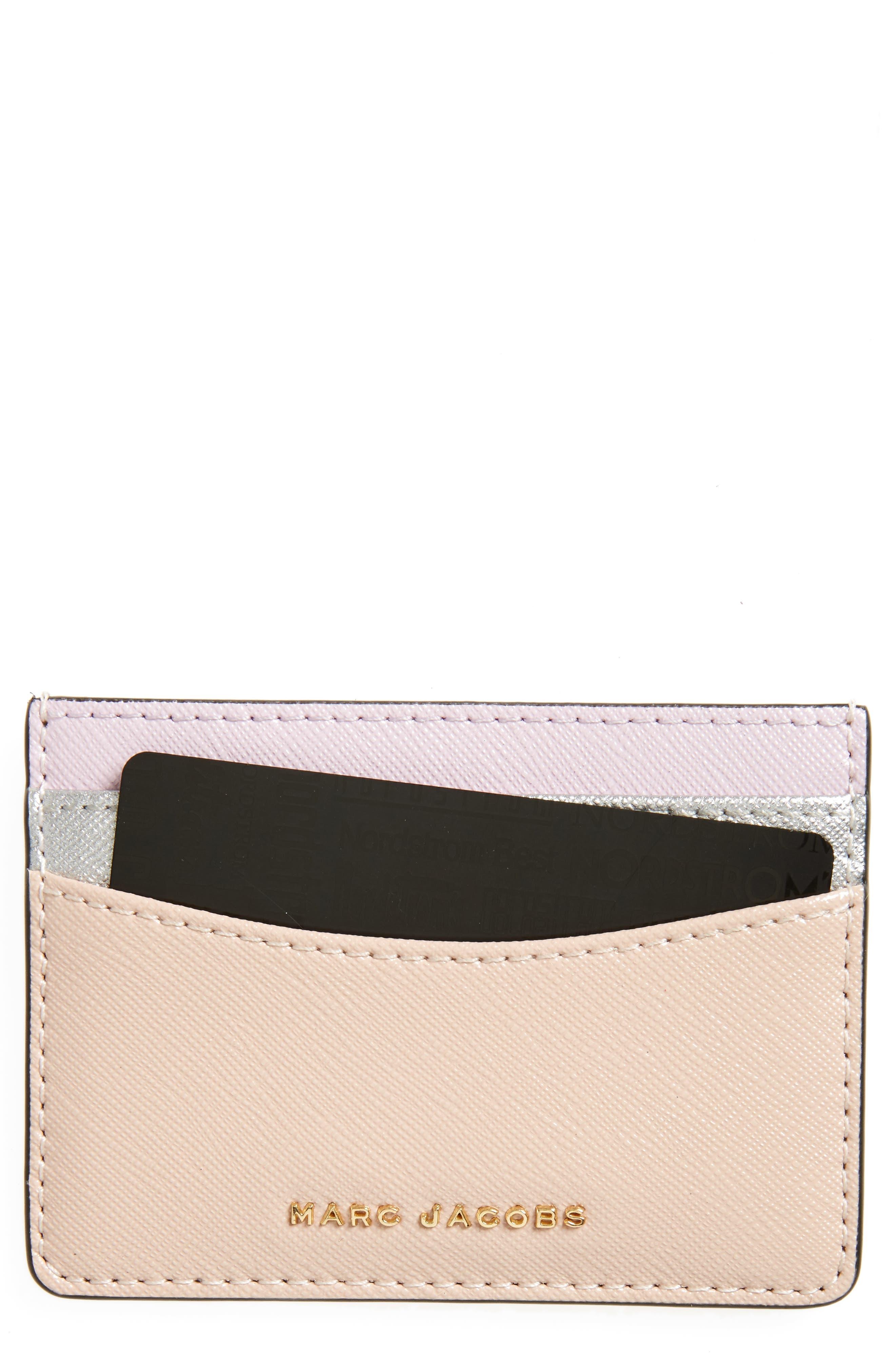 Color Block Saffiano Leather Card Case,                             Main thumbnail 5, color,
