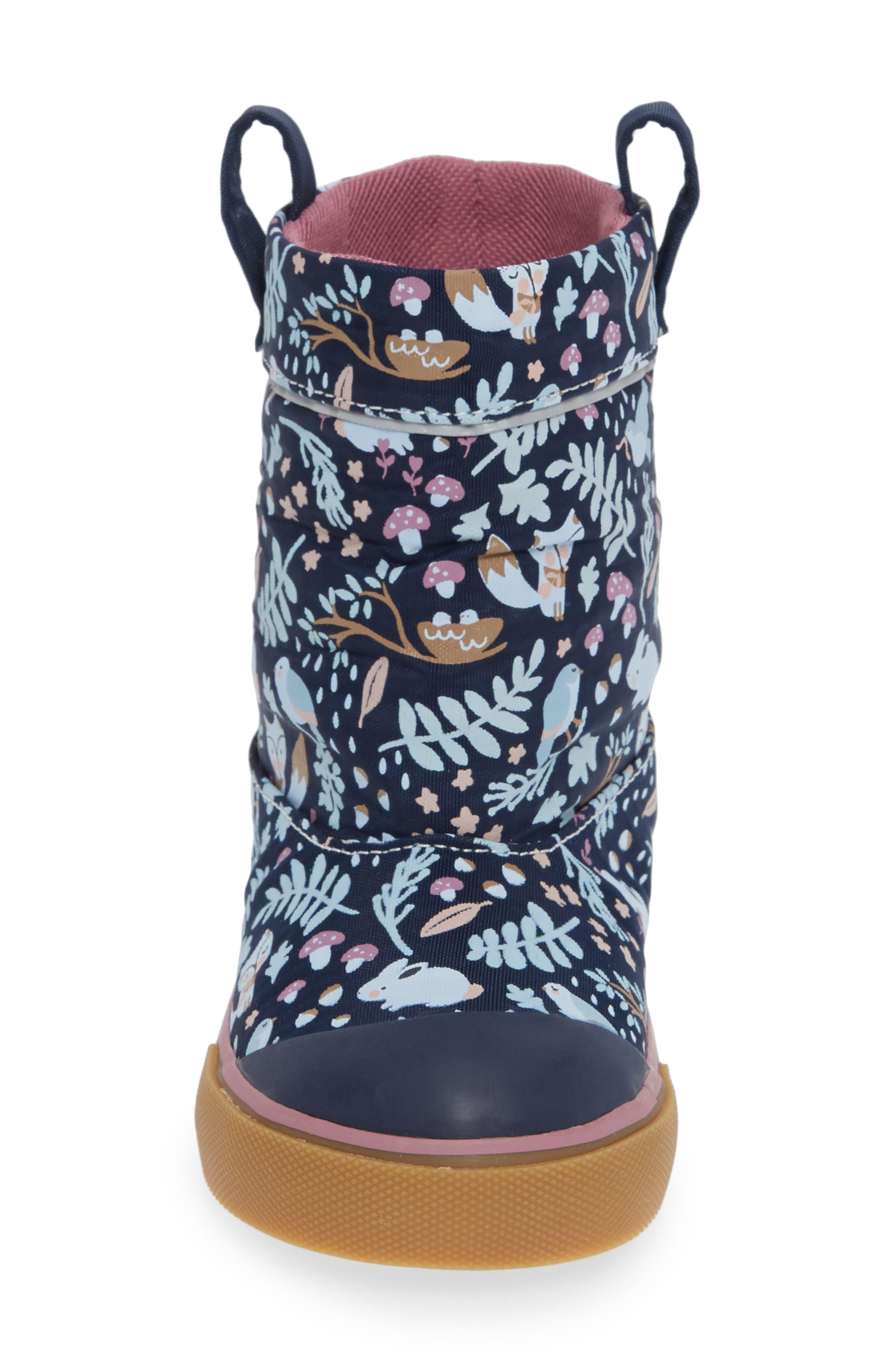 Montlake Waterproof Boot,                             Alternate thumbnail 4, color,                             NAVY WOODLAND